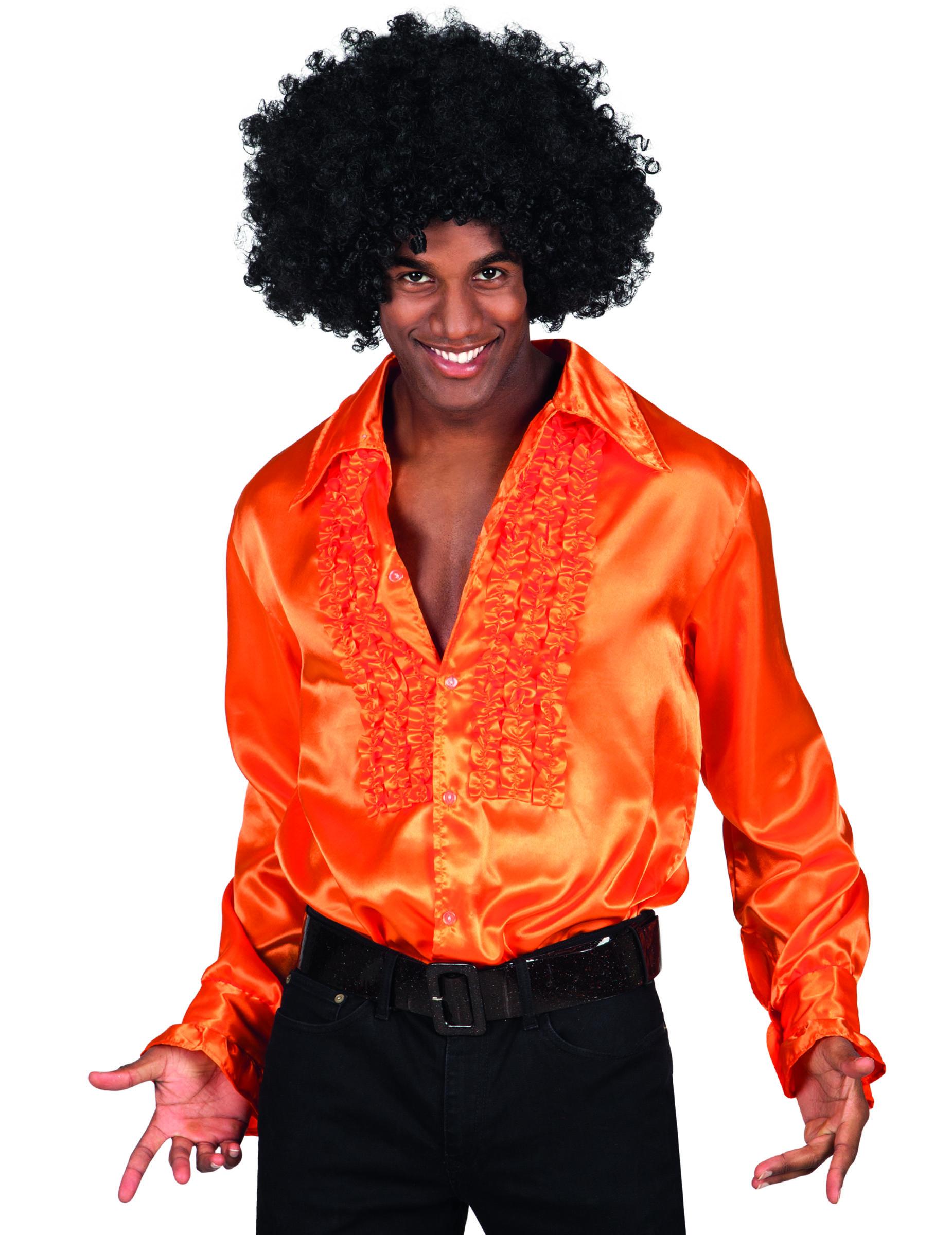 chemise disco orange homme d coration anniversaire et. Black Bedroom Furniture Sets. Home Design Ideas