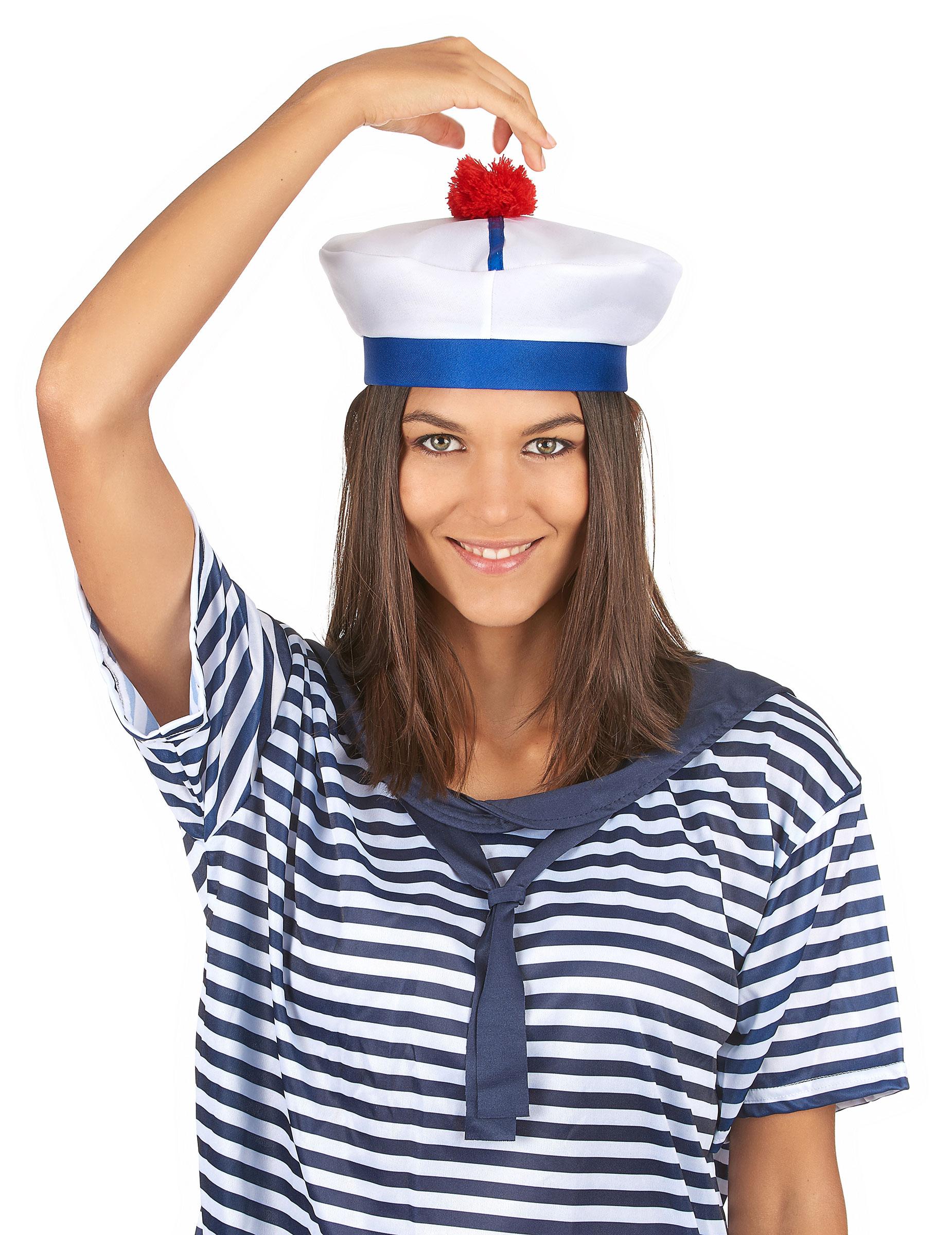 chapeau de marin adulte d coration anniversaire et f tes th me sur vegaoo party. Black Bedroom Furniture Sets. Home Design Ideas