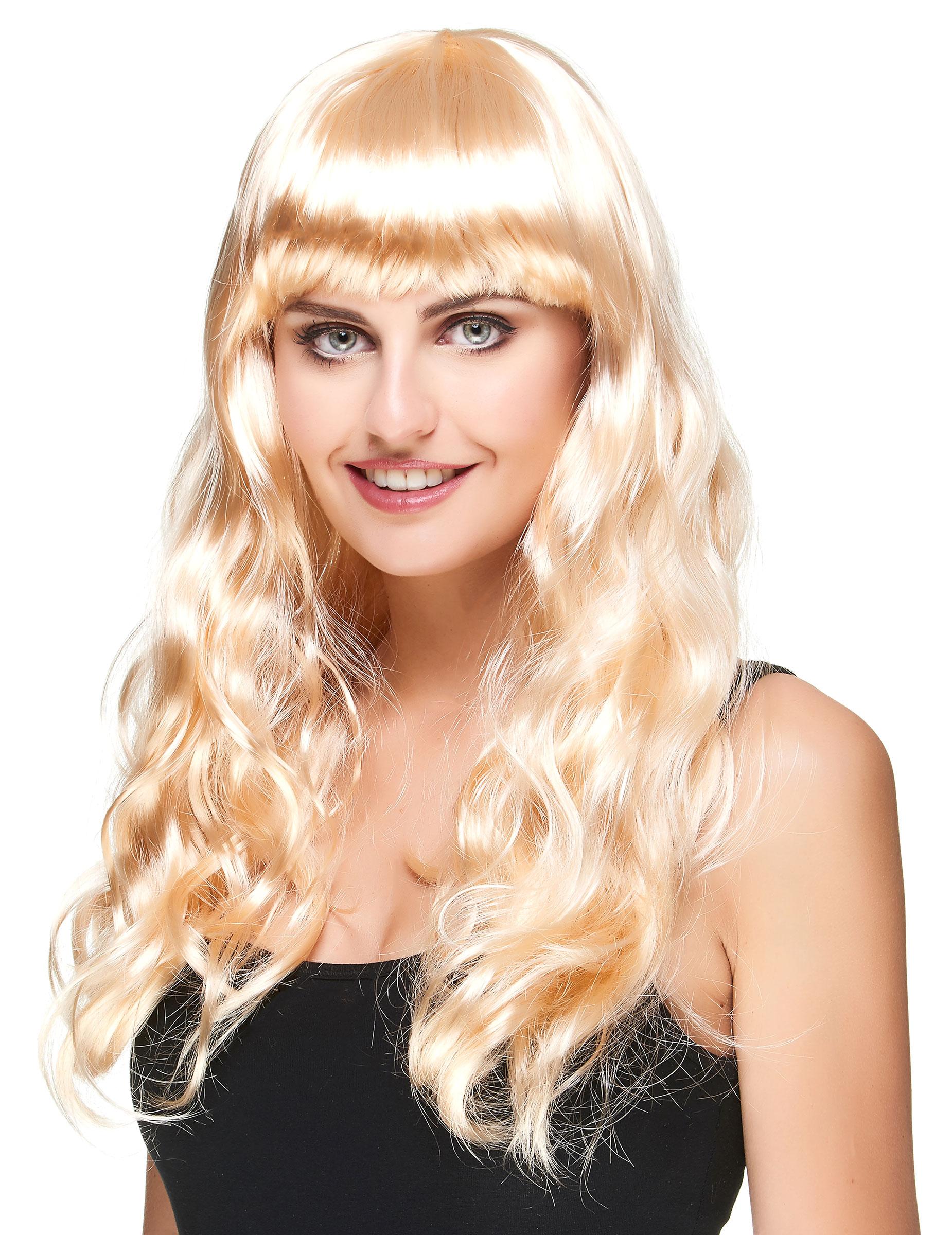 Perruque blonde longue femme d coration anniversaire et f tes th me sur vegaoo party - Photos meches blondes et noires ...