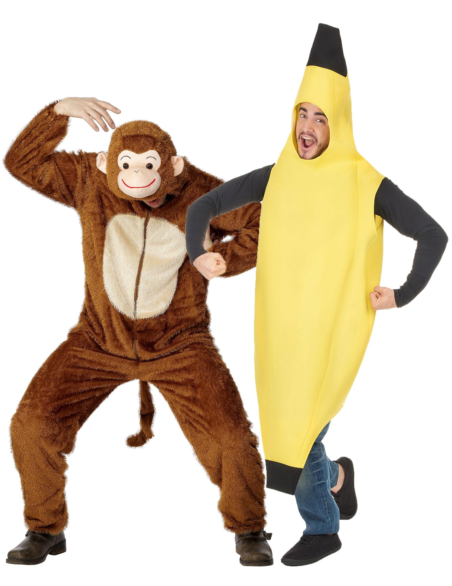 d guisement couple singe et banane adulte d coration anniversaire et f tes th me sur vegaoo party. Black Bedroom Furniture Sets. Home Design Ideas