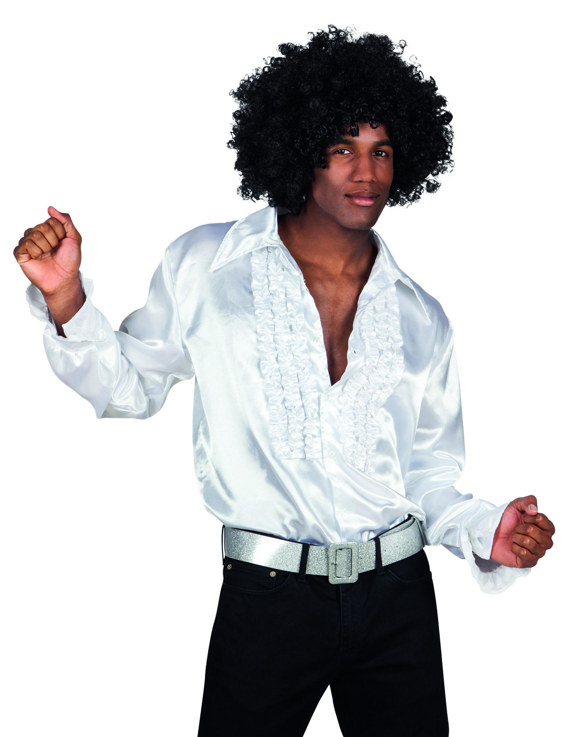 chemise disco blanche homme d coration anniversaire et. Black Bedroom Furniture Sets. Home Design Ideas