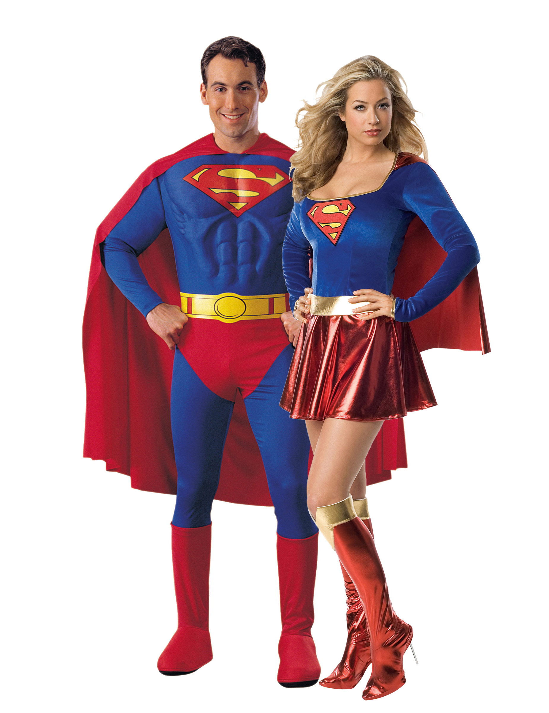 d guisement couple superman et supergirl d coration anniversaire et f tes th me sur vegaoo party. Black Bedroom Furniture Sets. Home Design Ideas