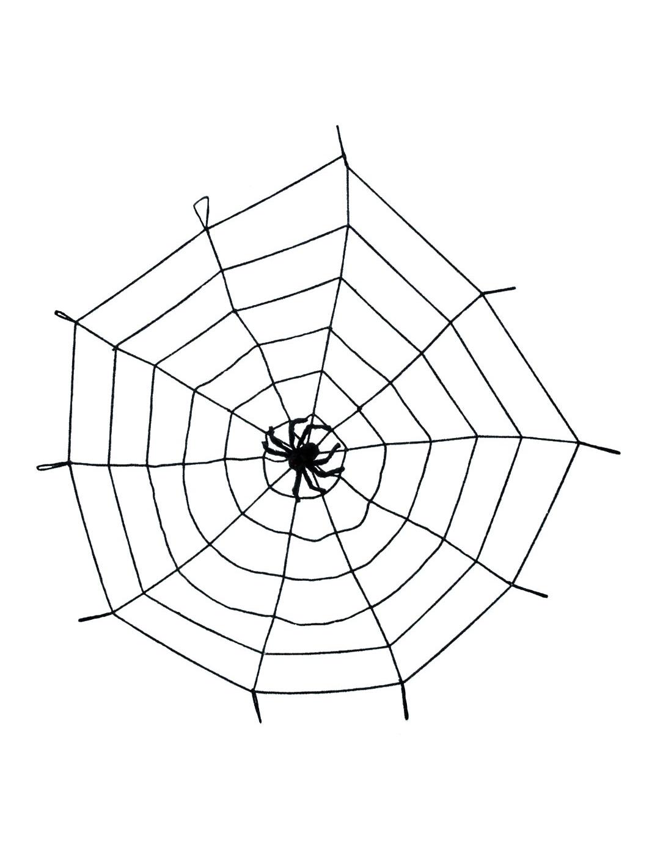 D coration halloween - Toile d araignee en papier ...