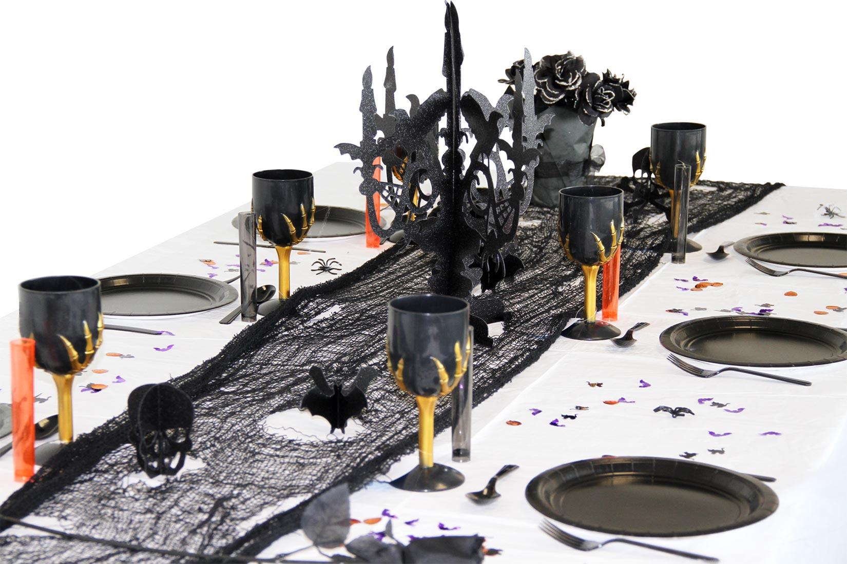 Pack table gothique halloween d coration anniversaire et for Decoration de table pour halloween