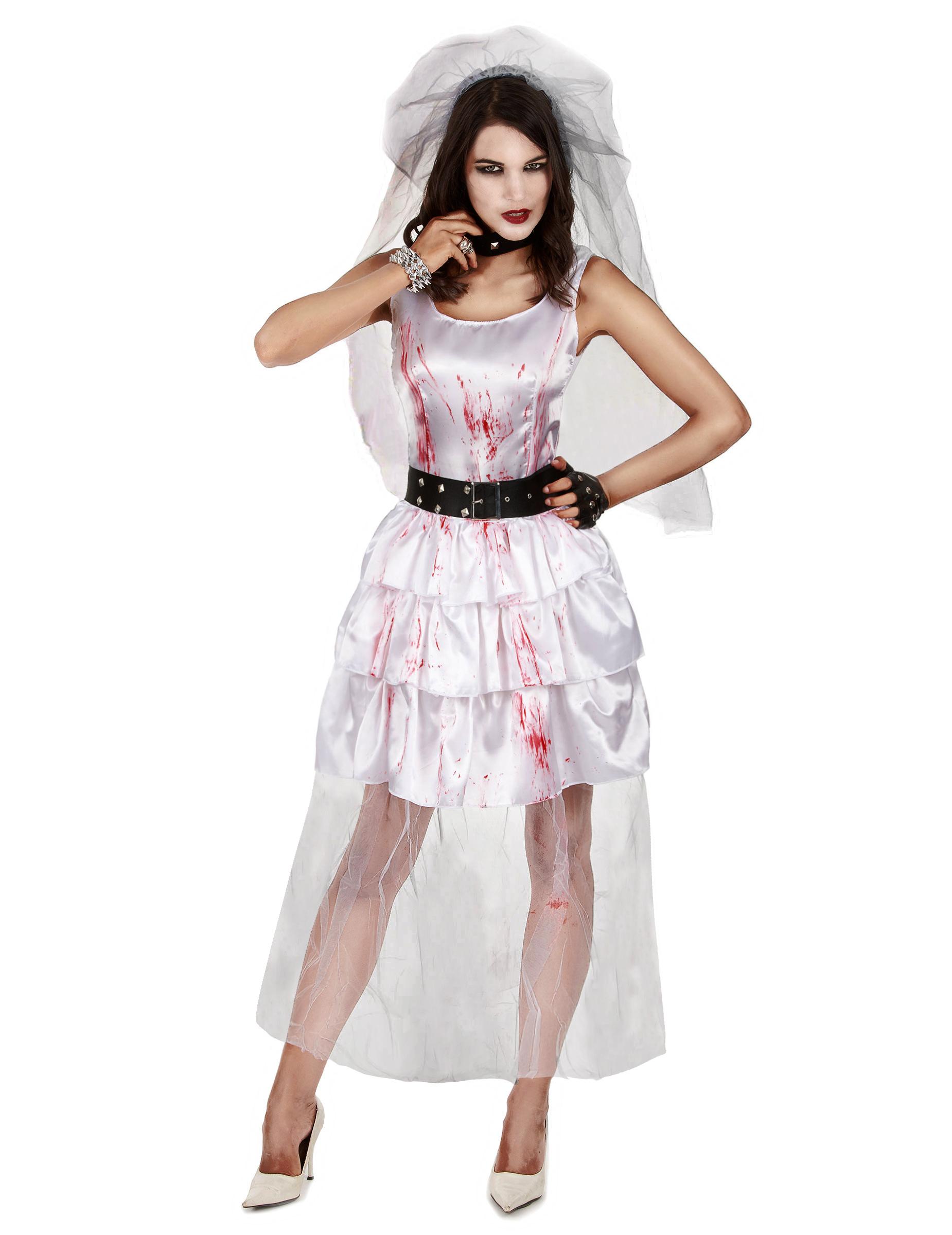 d guisement mari e zombie femme halloween d coration. Black Bedroom Furniture Sets. Home Design Ideas
