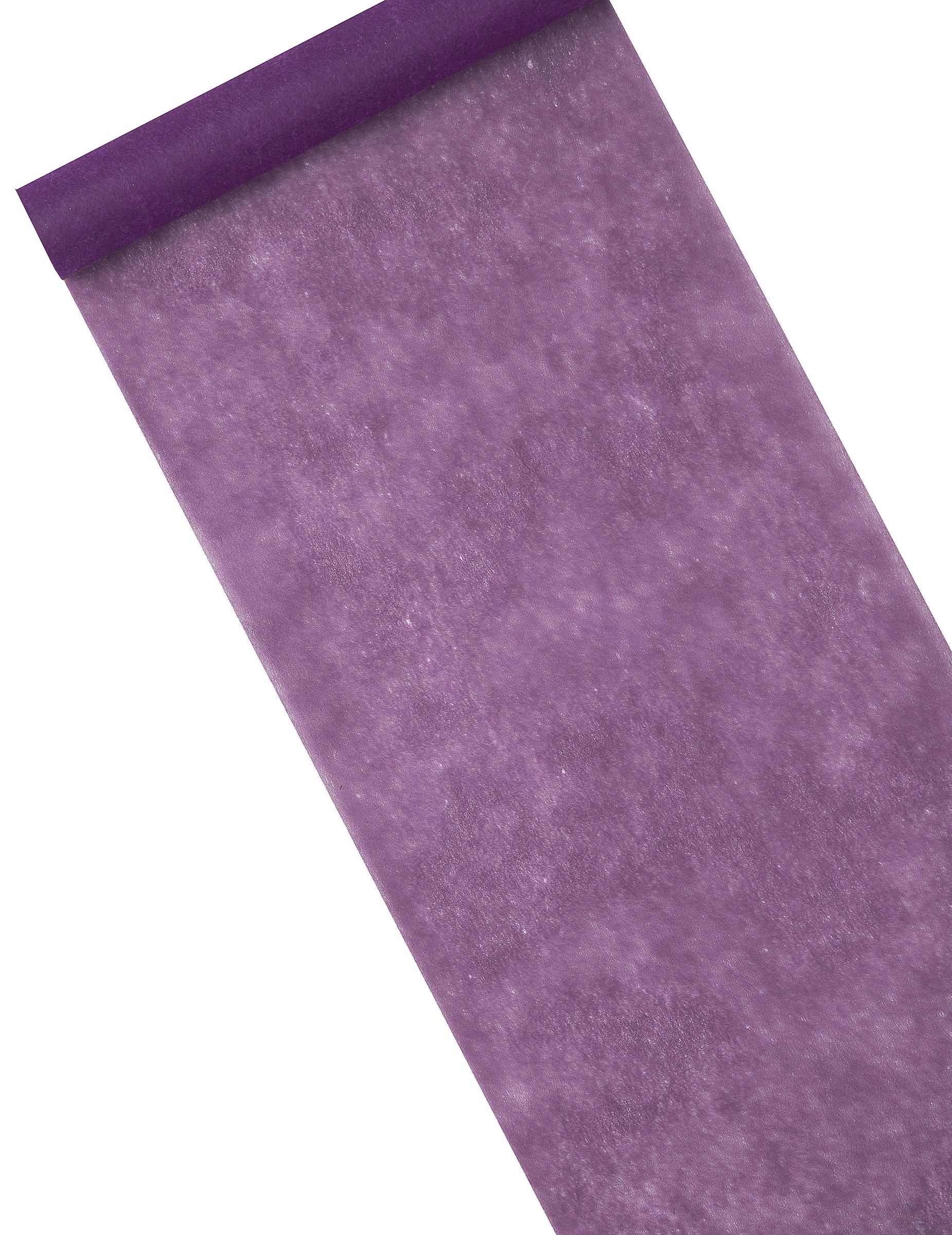 Chemin de table intiss uni violet d coration for Chemin de table personnalise