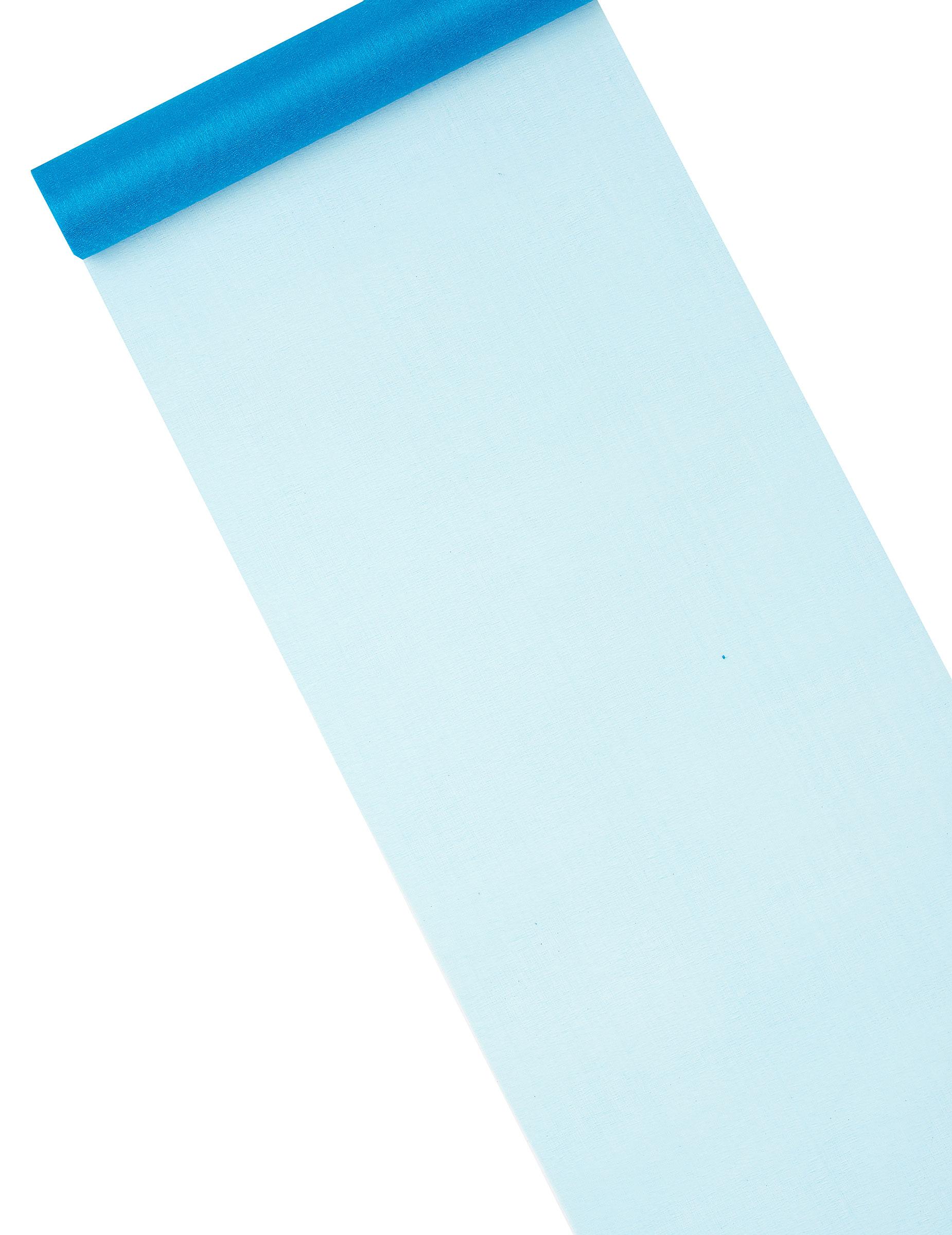 Chemin de table en organza brillant turquoise d coration for Chemin de table turquoise