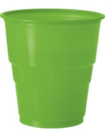 12 gobelets en plastique vert citron d coration anniversaire et f tes th me sur vegaoo party - Decoration gobelet plastique ...
