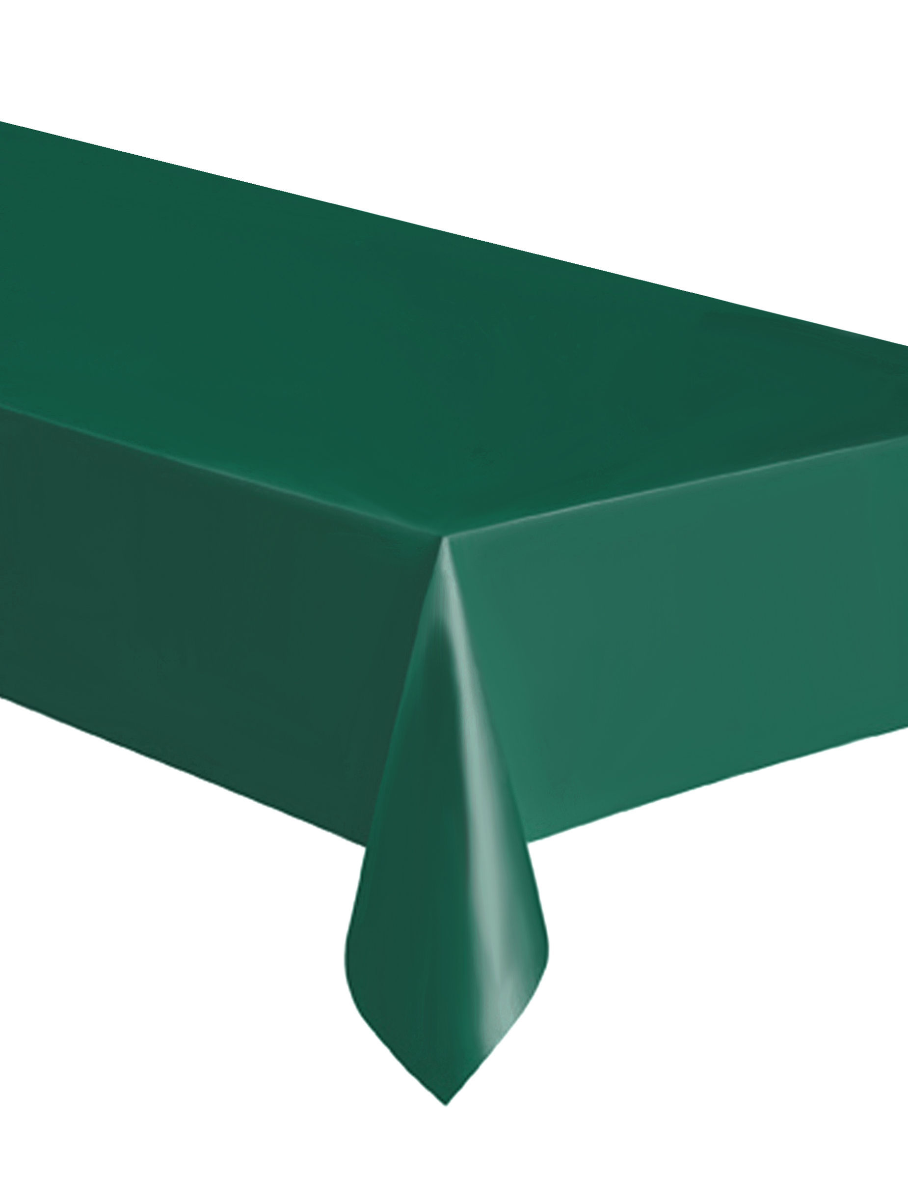 nappe rectangulaire en plastique vert fonc 137 x 274 cm d coration anniversaire et f tes. Black Bedroom Furniture Sets. Home Design Ideas