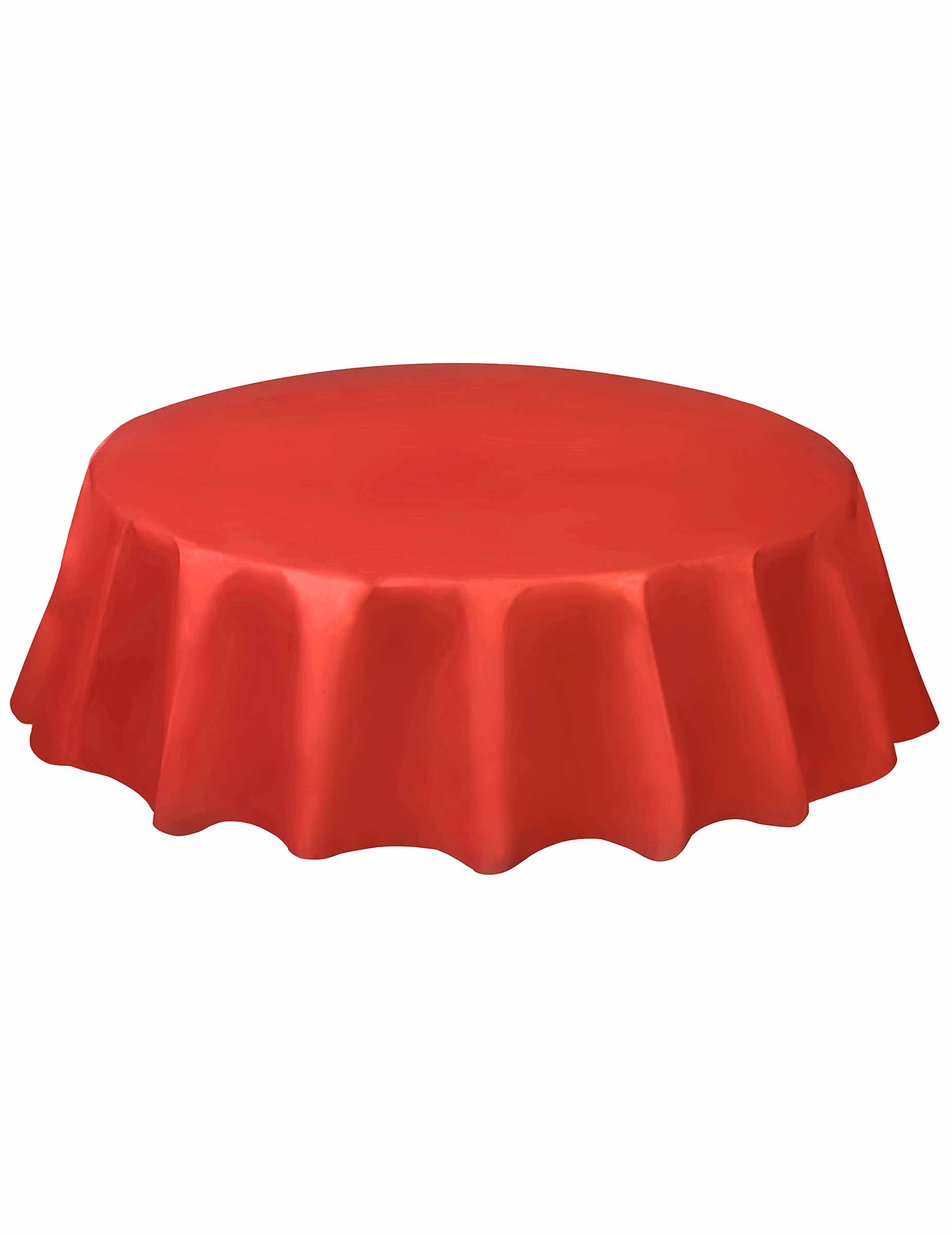 nappe jetable ronde en plastique rouge d coration anniversaire et f tes th me sur vegaoo party. Black Bedroom Furniture Sets. Home Design Ideas