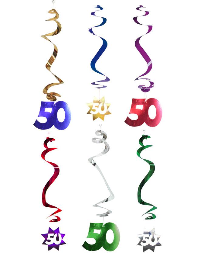 6 d corations suspendre spirale 50 ans d coration. Black Bedroom Furniture Sets. Home Design Ideas
