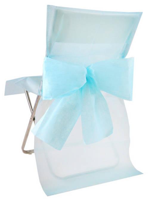 10 housses de chaise premium bleu ciel d coration anniversaire et f tes th me sur vegaoo party. Black Bedroom Furniture Sets. Home Design Ideas