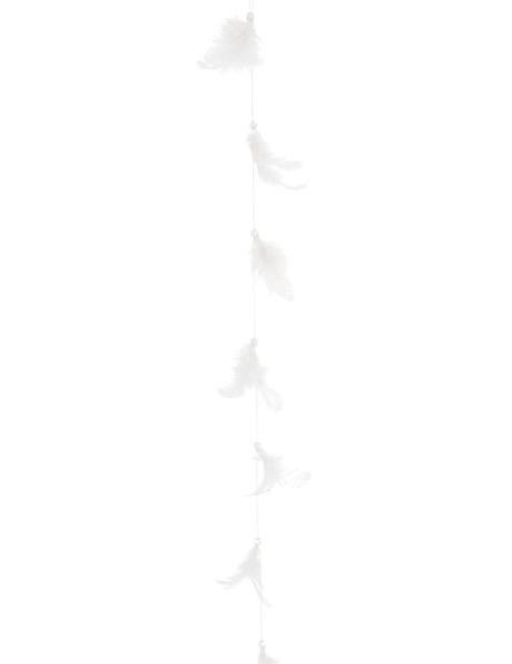Guirlande plume blanche d coration anniversaire et f tes th me sur vegaoo - Guirlande plume blanche ...