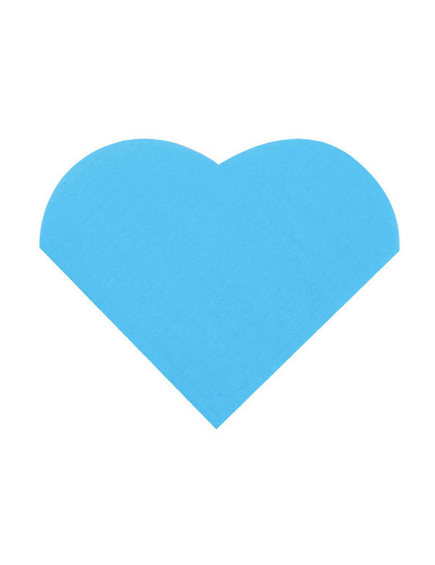 20 petites serviettes coeur en papier turquoise 9 x 12 cm d coration anniversaire et f tes. Black Bedroom Furniture Sets. Home Design Ideas