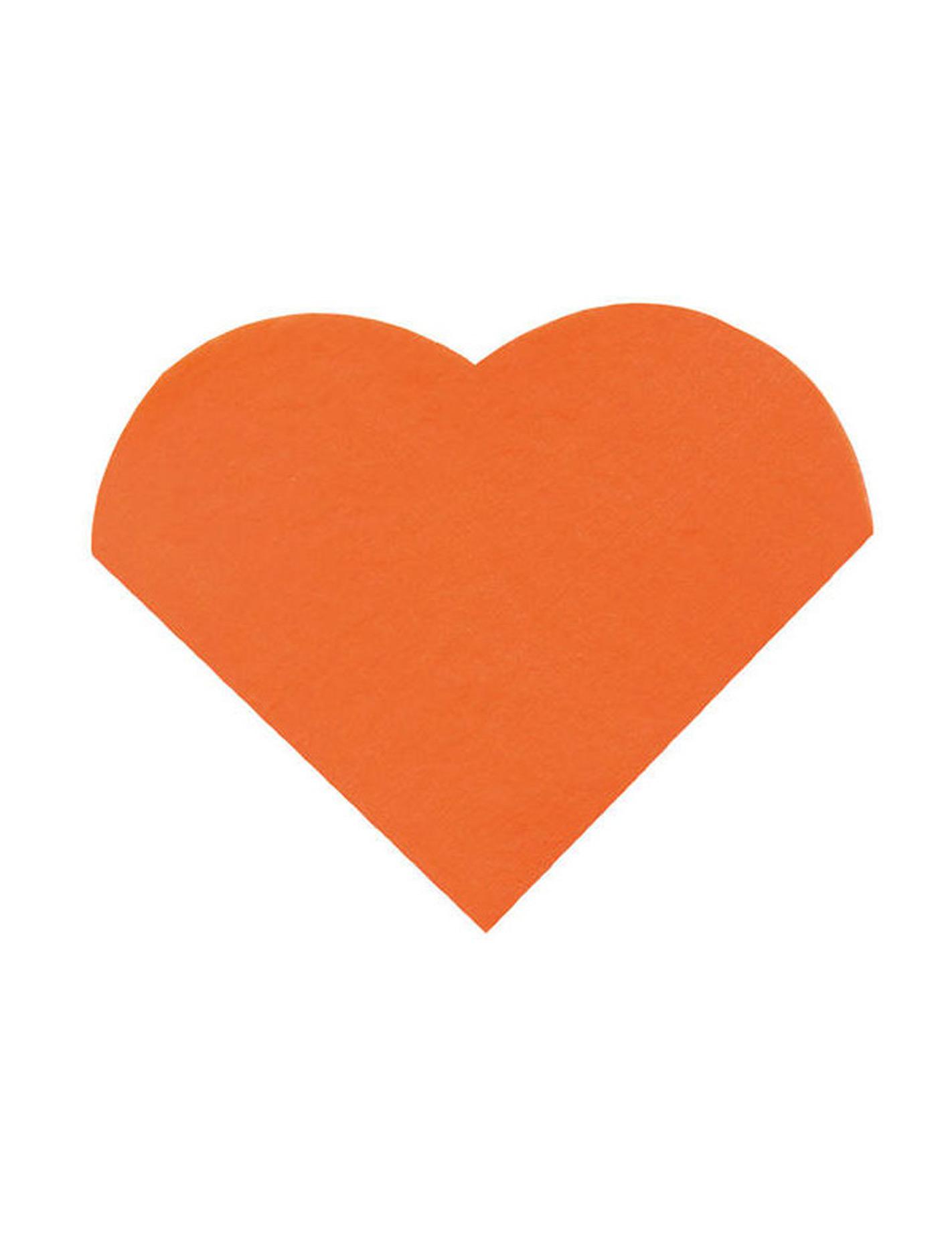 20 petites serviettes coeur en papier orange 9 x 12 cm d coration anniversaire et f tes th me. Black Bedroom Furniture Sets. Home Design Ideas
