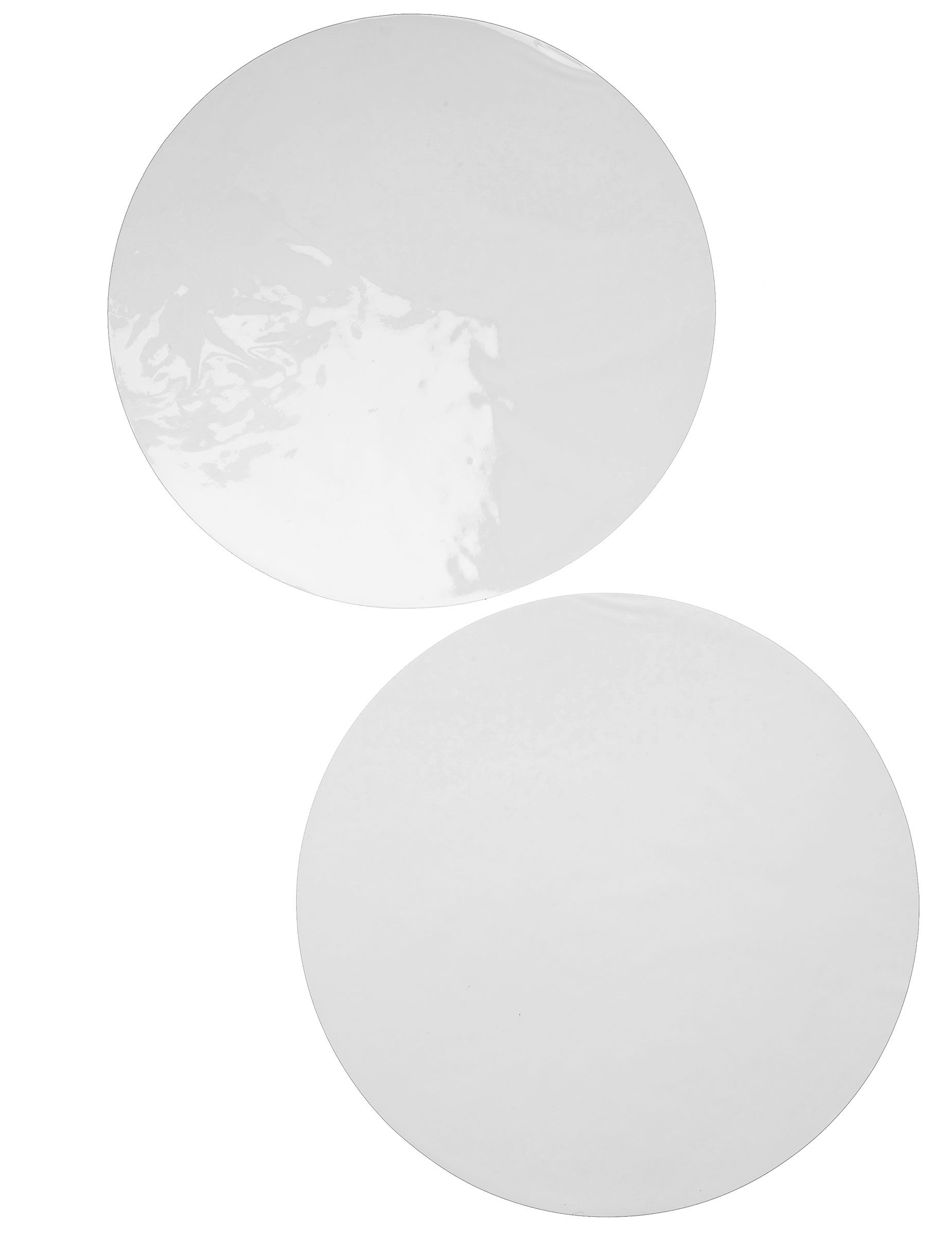 6 sets de table rond blanc d coration anniversaire et f tes th me sur vegaoo party. Black Bedroom Furniture Sets. Home Design Ideas