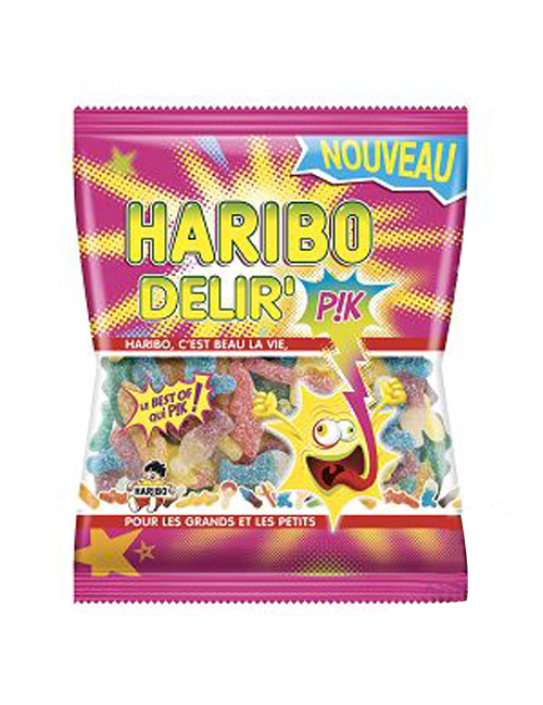 sachet bonbons delir 39 haribo 120 g d coration anniversaire et f tes th me sur vegaoo party. Black Bedroom Furniture Sets. Home Design Ideas