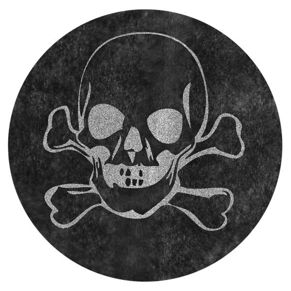 6 sets de table rond noir t te de mort d coration for Set de table rond noir