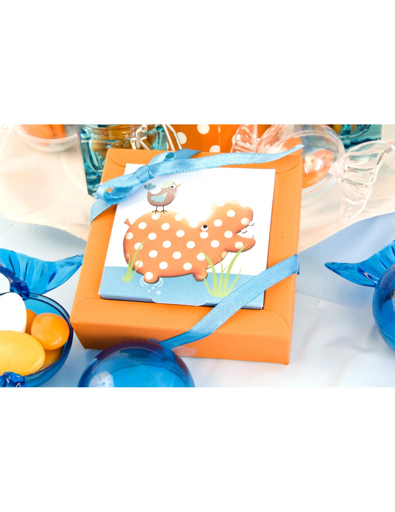 2 bo tes carton hippo d coration anniversaire et f tes for Decoration boite carton