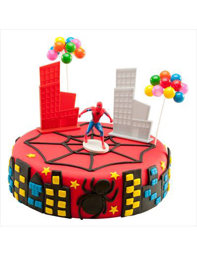 kit de d corations g teaux spiderman d coration anniversaire et f tes th me sur vegaoo party. Black Bedroom Furniture Sets. Home Design Ideas