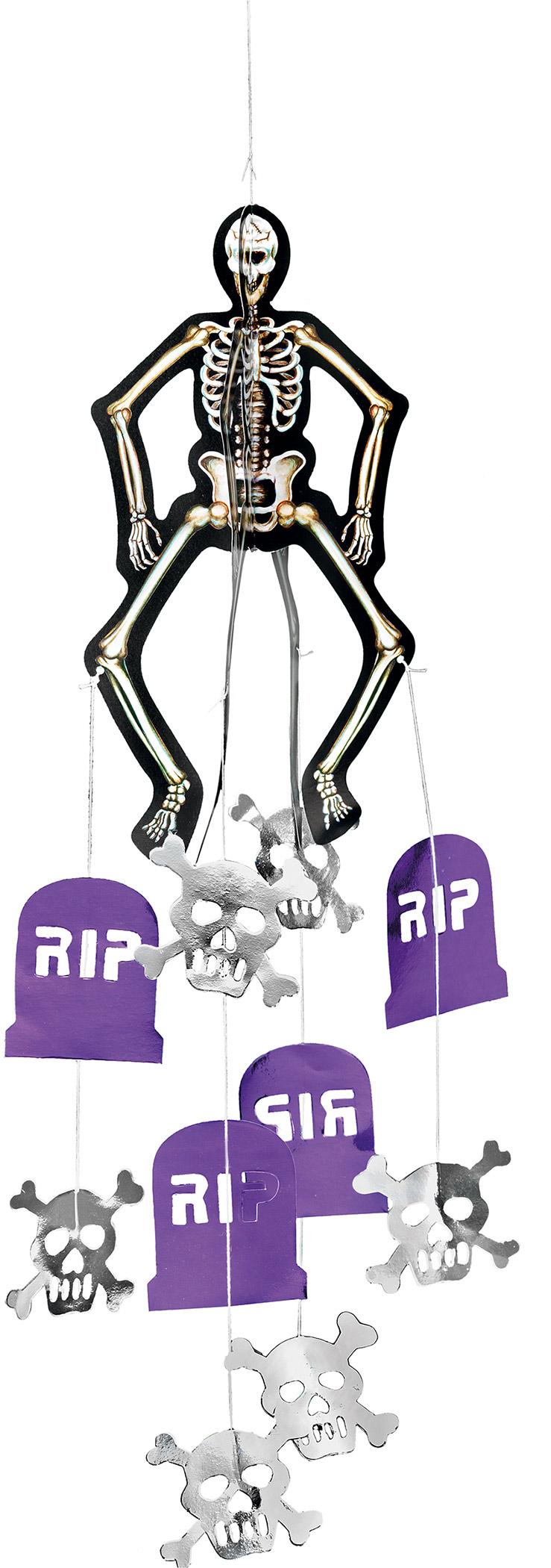 D coration suspendre squelette halloween d coration for Decoration a suspendre