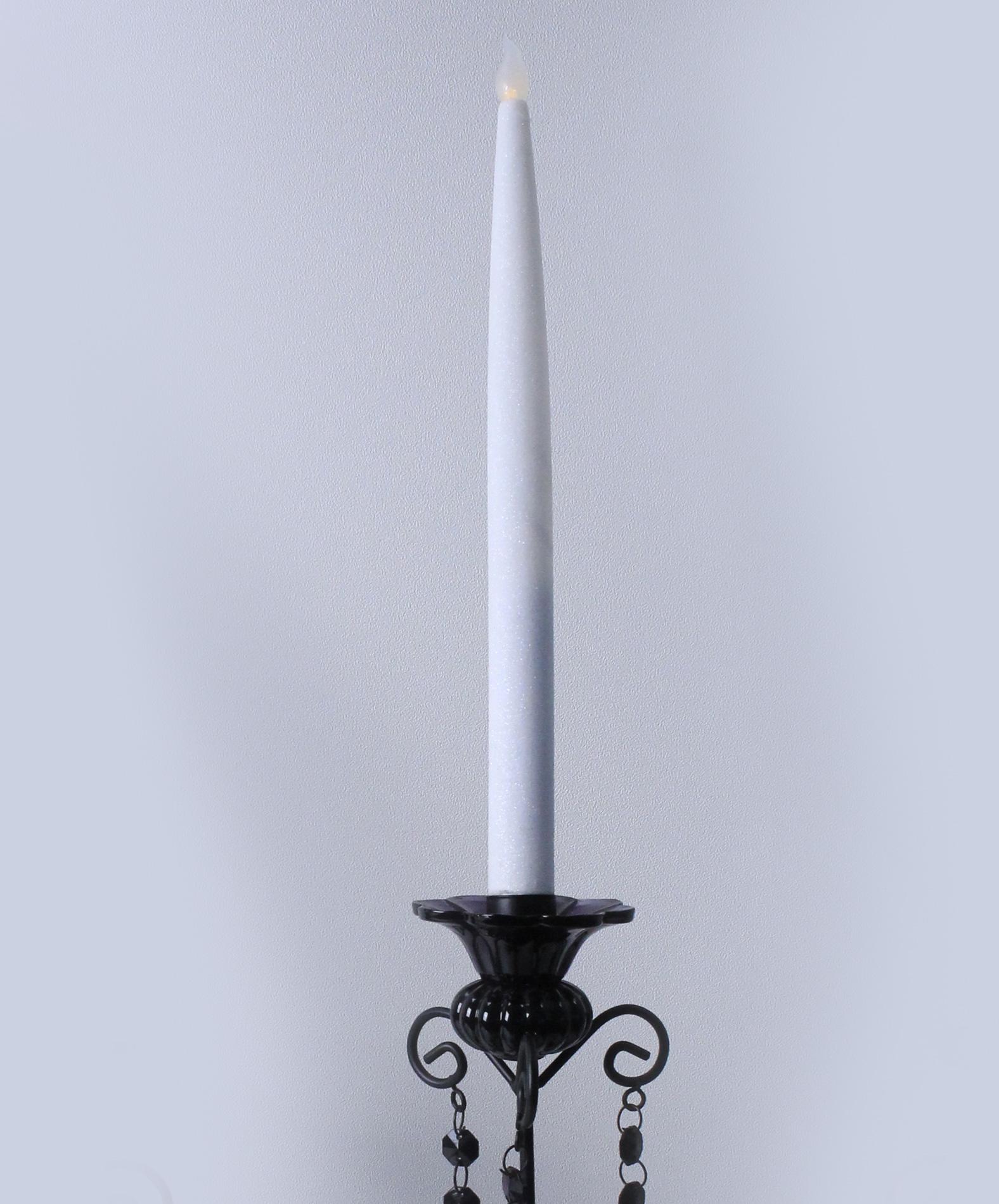 2 bougies chandelles led blanches d coration anniversaire et f tes th me sur vegaoo party. Black Bedroom Furniture Sets. Home Design Ideas