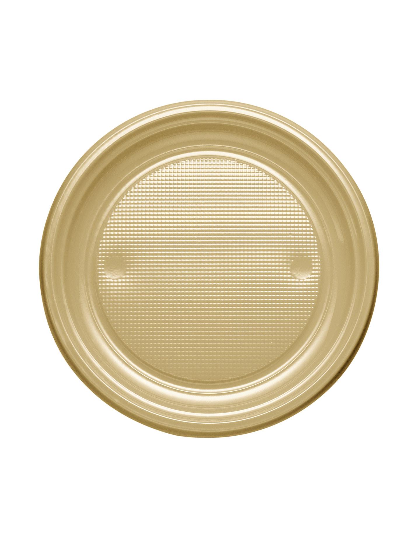 25 petites assiettes or rondes en plastique 17 cm - Petites pochettes plastiques ...