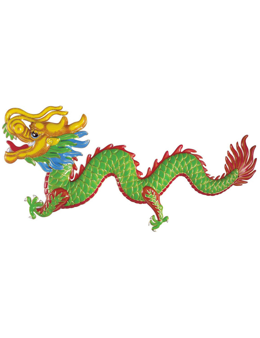 D coration dragon nouvel an chinois 100 x 48 cm for Decoration nouvel an chinois