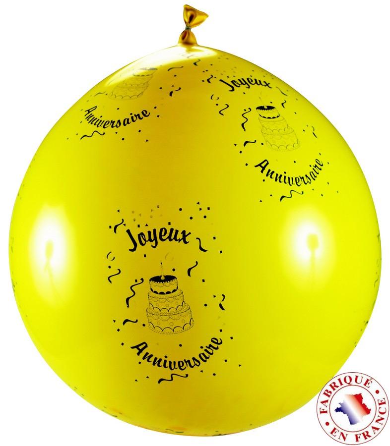 ballon geant avec confetti