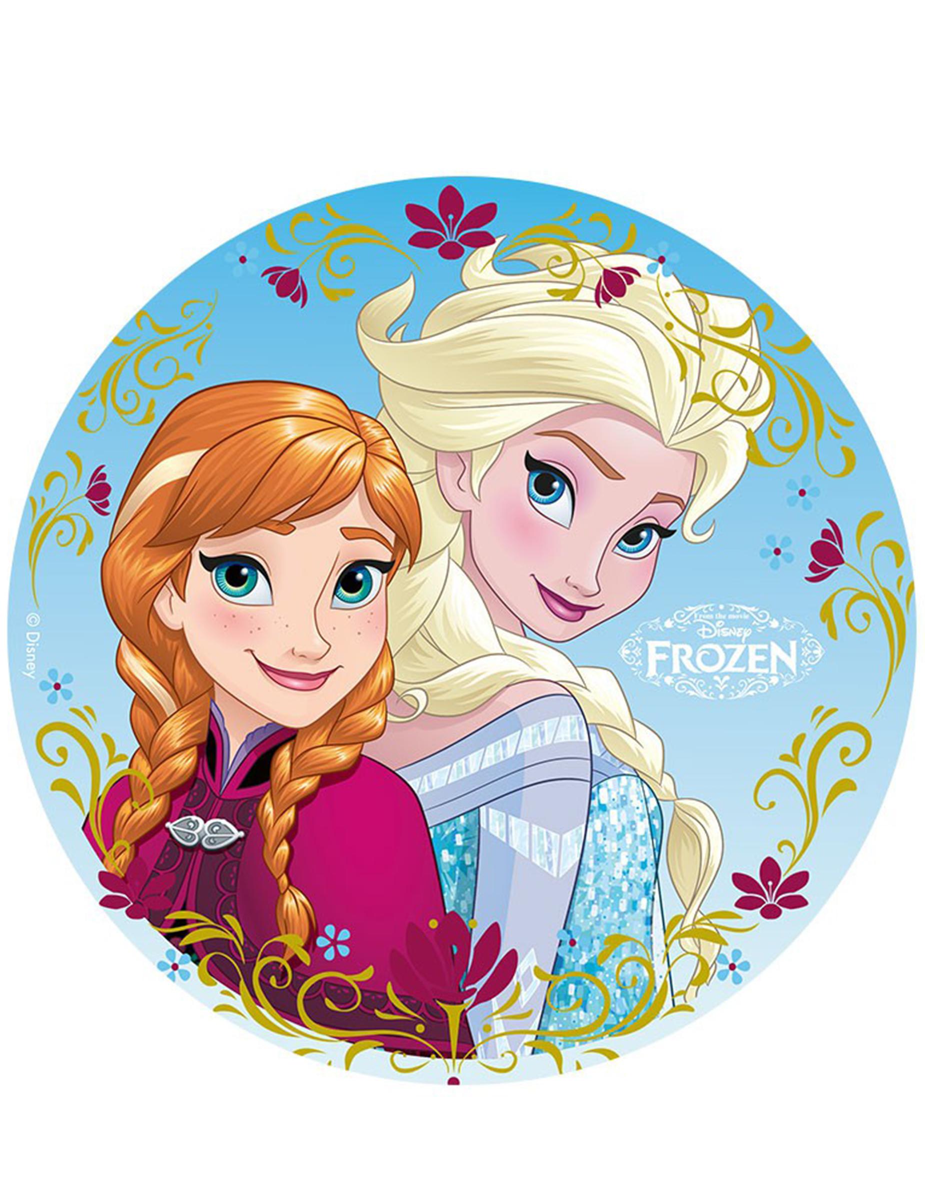 Disque Azyme 20cm Elsa Amp Anna La Reine Des Neiges Frozen D 233 Coration Anniversaire Et F 234 Tes 224