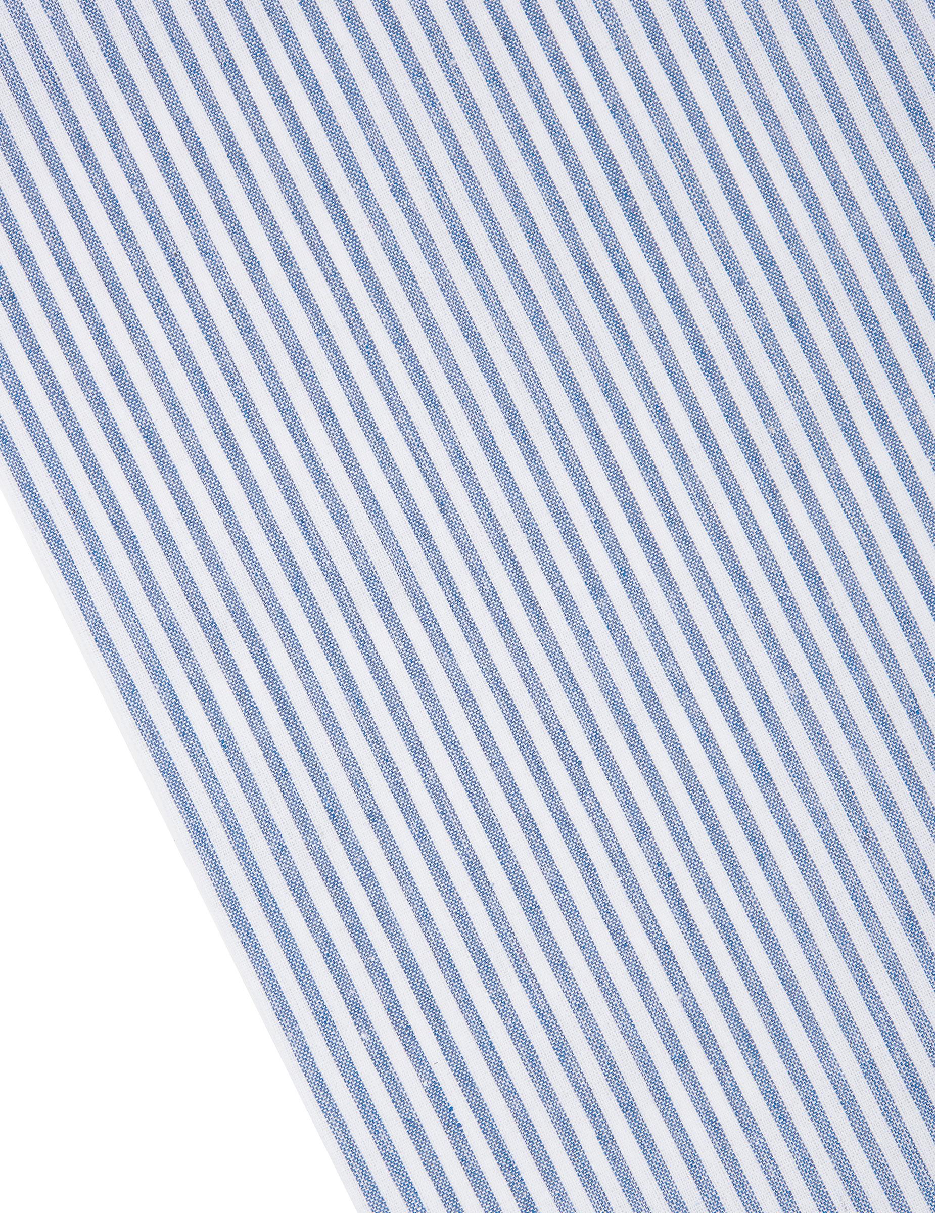 Chemin de table ray bleu marine et blanc d coration for Deco bleu marine et blanc