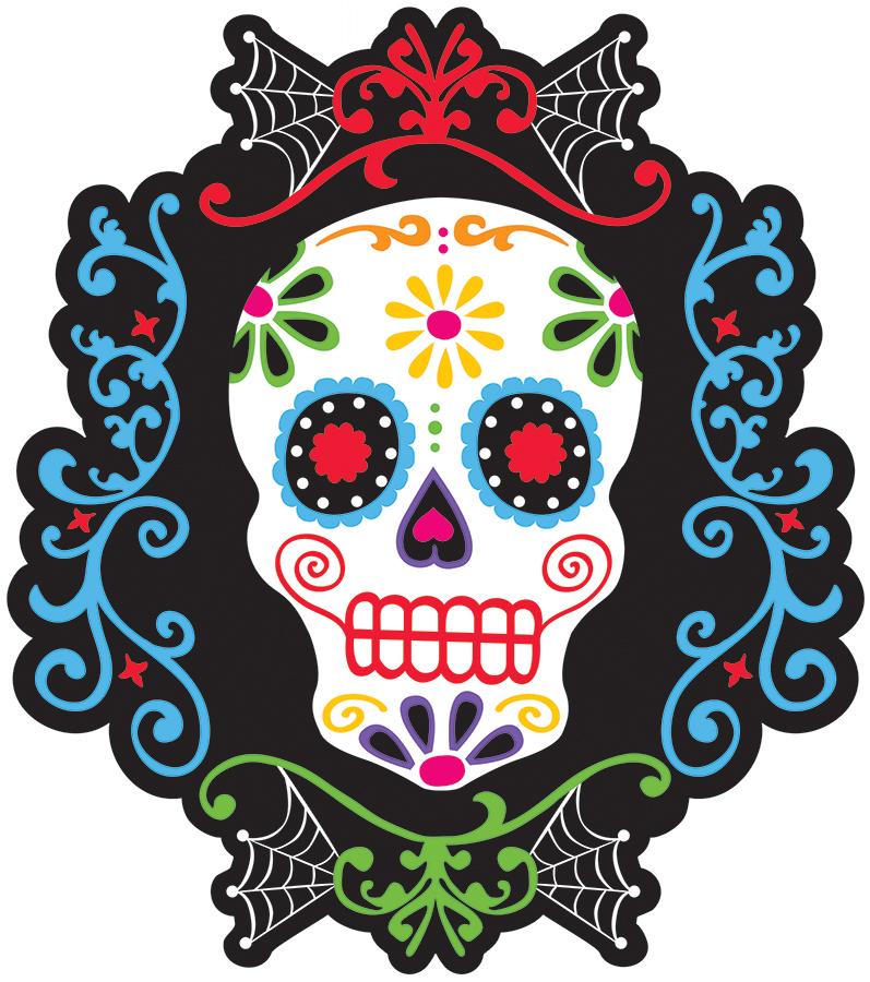d coration murale t te de mort mexicaine d coration anniversaire et f tes th me sur vegaoo party. Black Bedroom Furniture Sets. Home Design Ideas