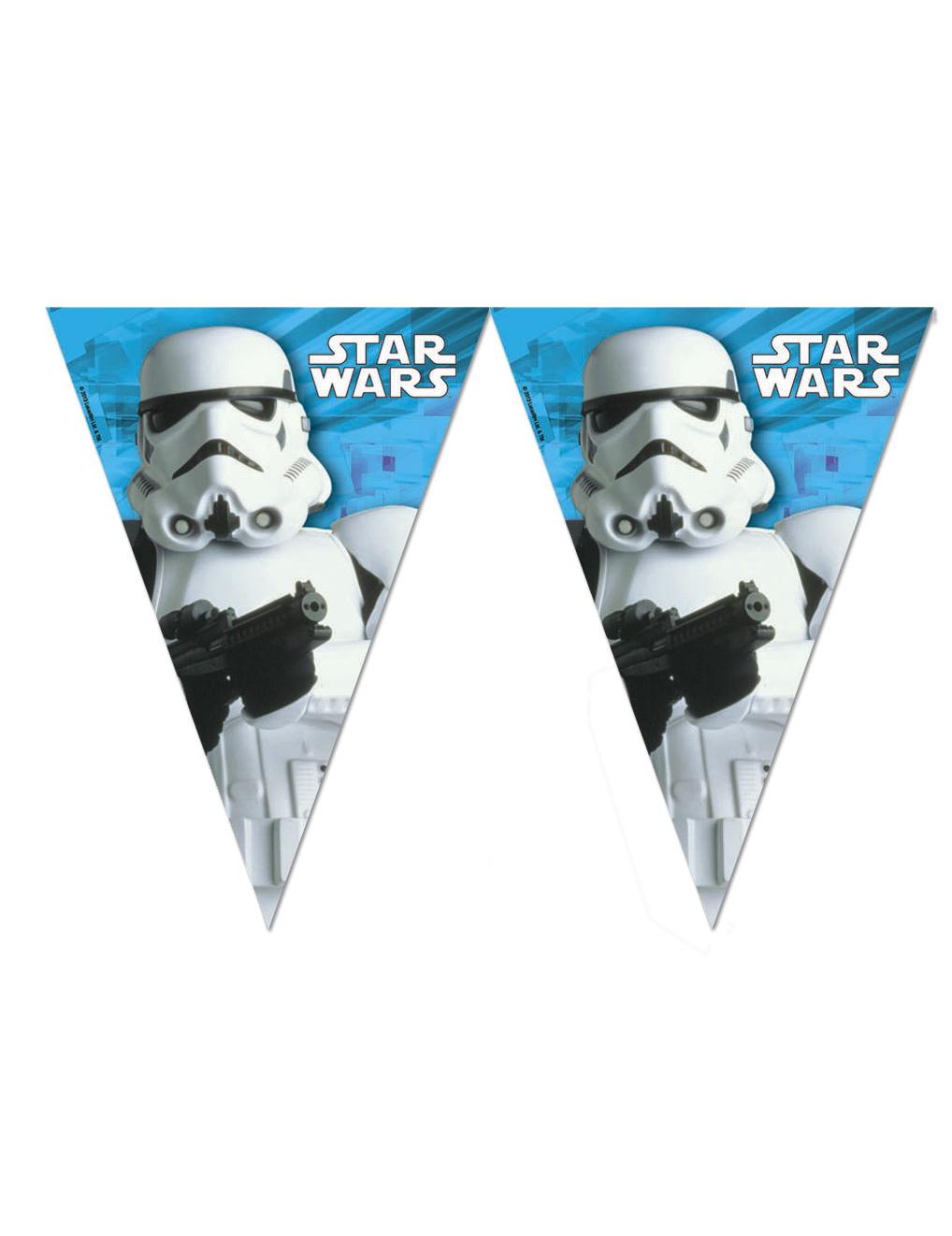 guirlande fanions stormtrooper star wars d coration anniversaire et f tes th me sur vegaoo party. Black Bedroom Furniture Sets. Home Design Ideas