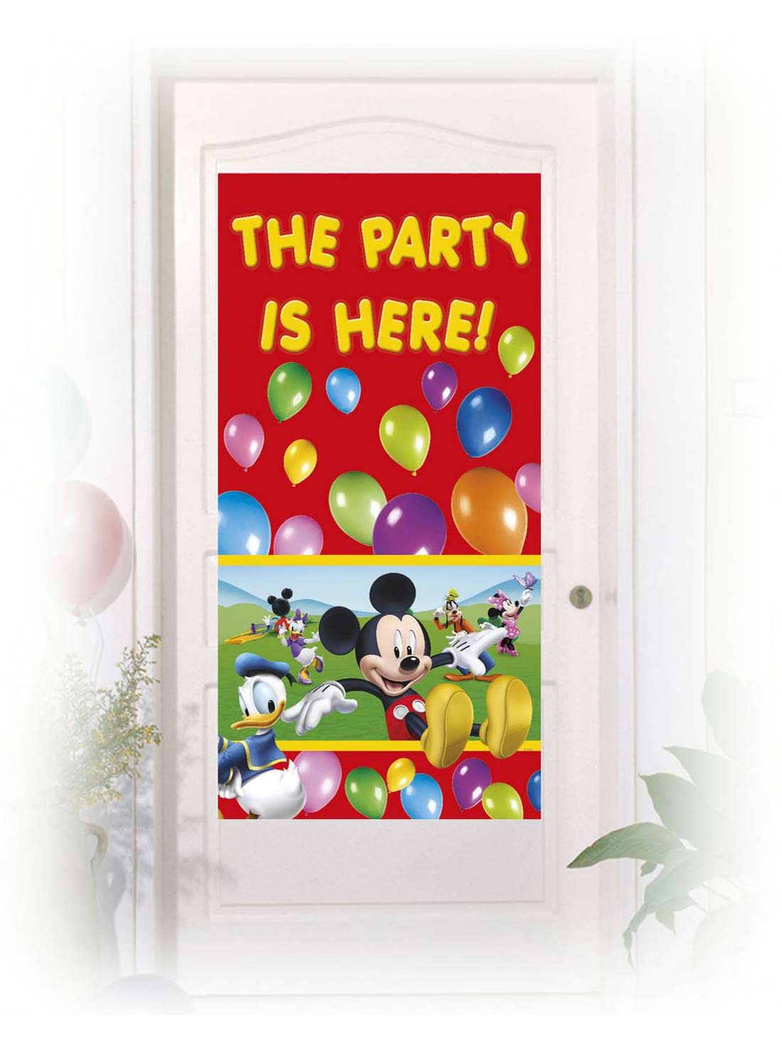 d coration de porte mickey mouse d coration anniversaire et f tes th me sur vegaoo party. Black Bedroom Furniture Sets. Home Design Ideas