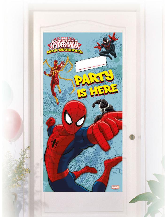 D coration de porte spiderman d coration anniversaire - Decoration spiderman pour anniversaire ...