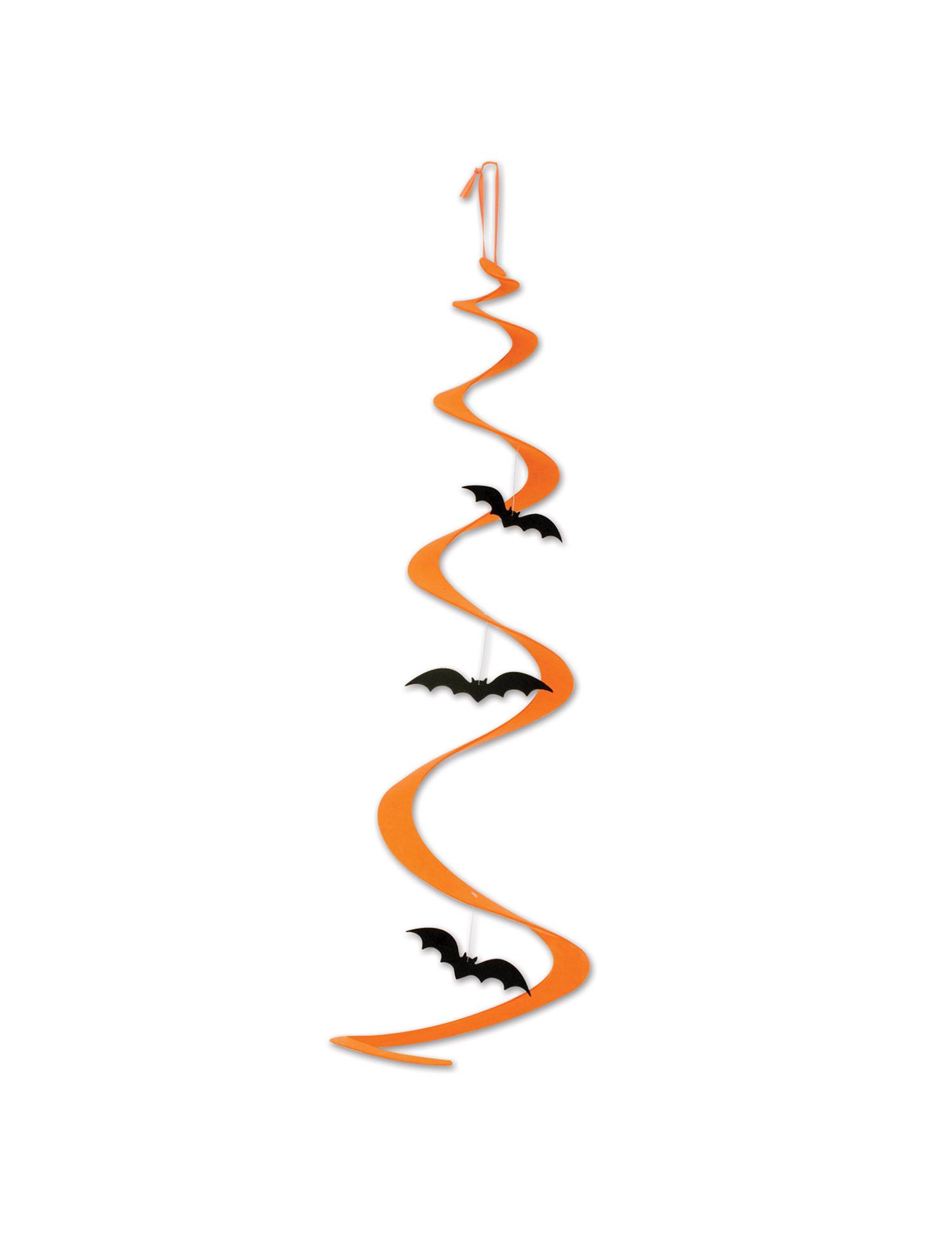 D coration spirale suspendre chauve souris halloween for Decoration a suspendre