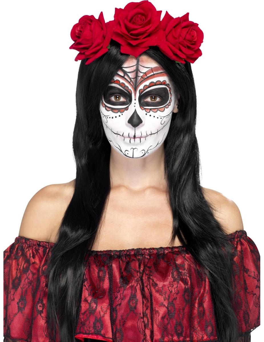 Serre tête roses rouges adulte, décoration anniversaire et fêtes à ...