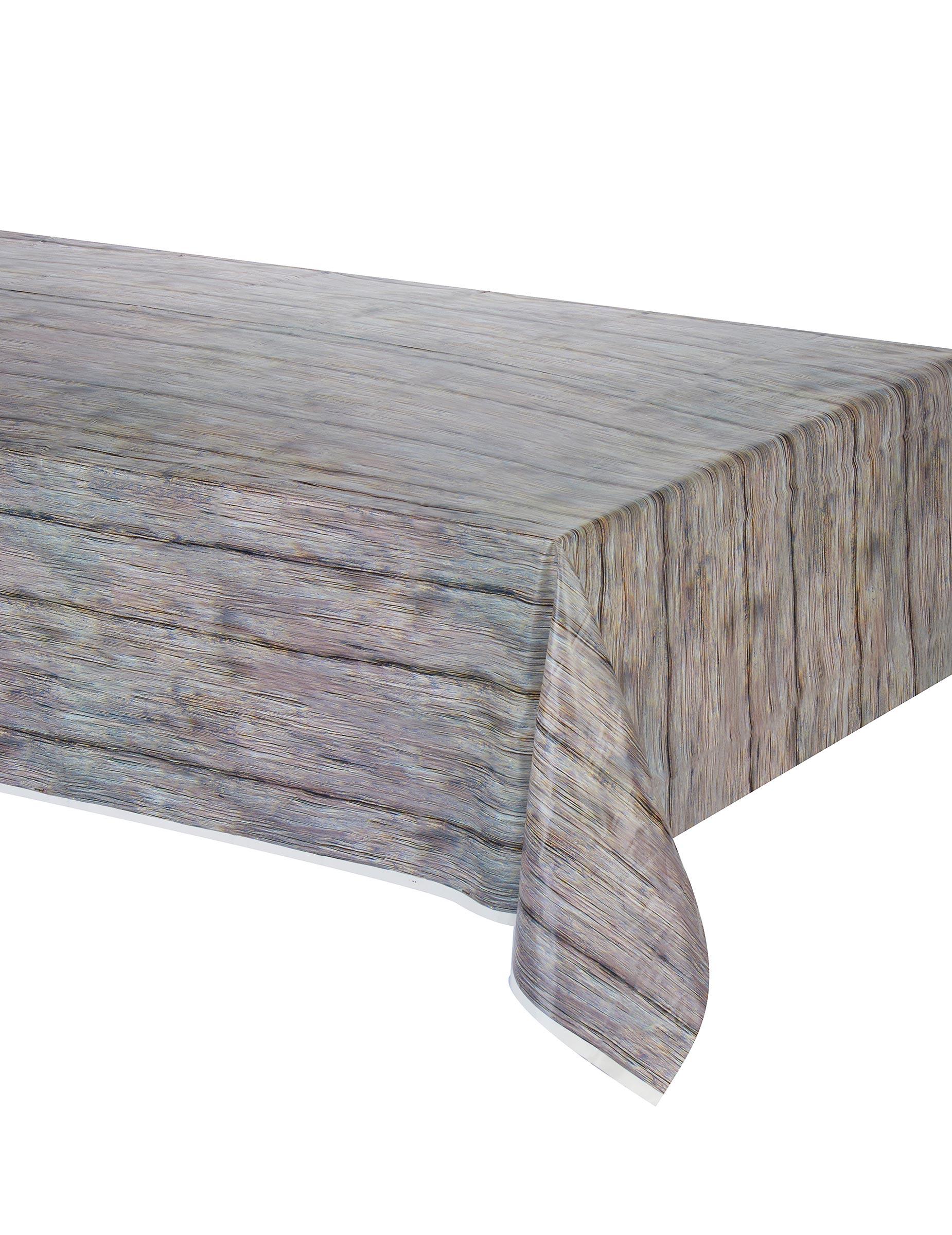 Nappe Motif Bois : Nappe effet bois rustique 137 x 274 cm, d?coration anniversaire et