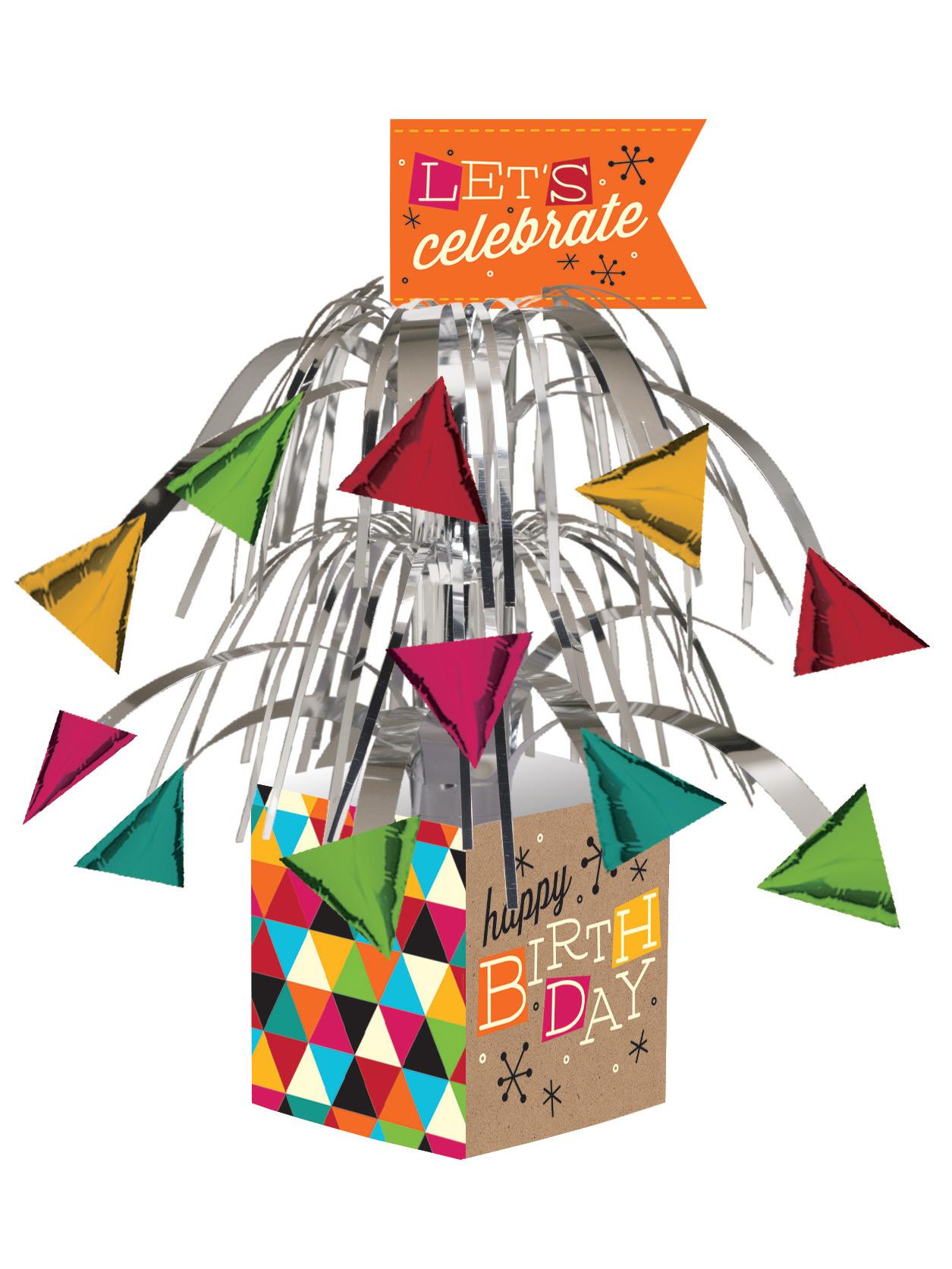 centre de table anniversaire kraft color d coration anniversaire et f tes th me sur vegaoo party. Black Bedroom Furniture Sets. Home Design Ideas