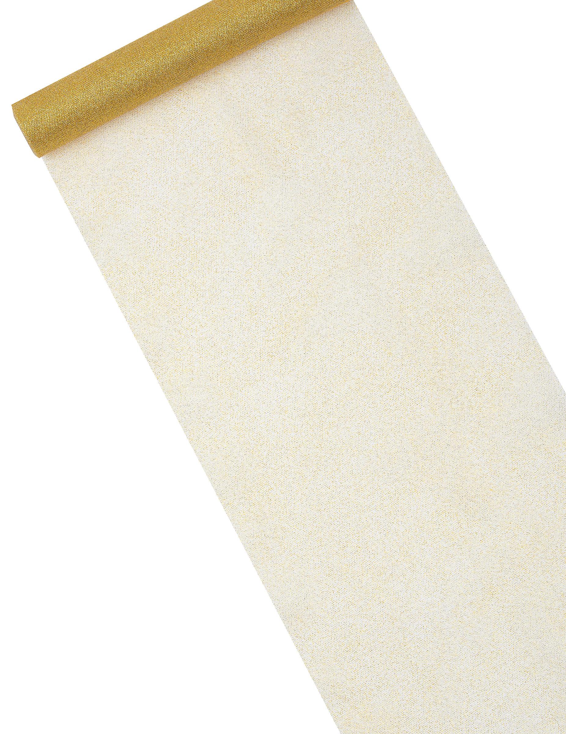 Chemin de table en tulle paillet dor d coration for Chemin de table personnalise