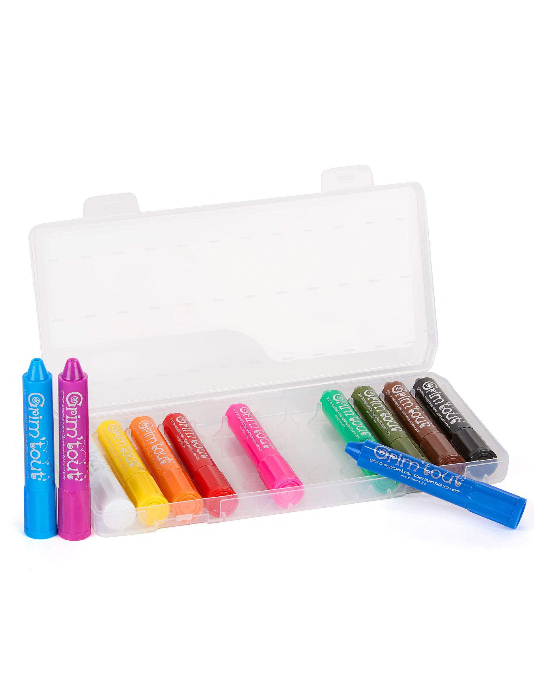 bo te de 12 crayons maquillage multicolore grim 39 tout. Black Bedroom Furniture Sets. Home Design Ideas