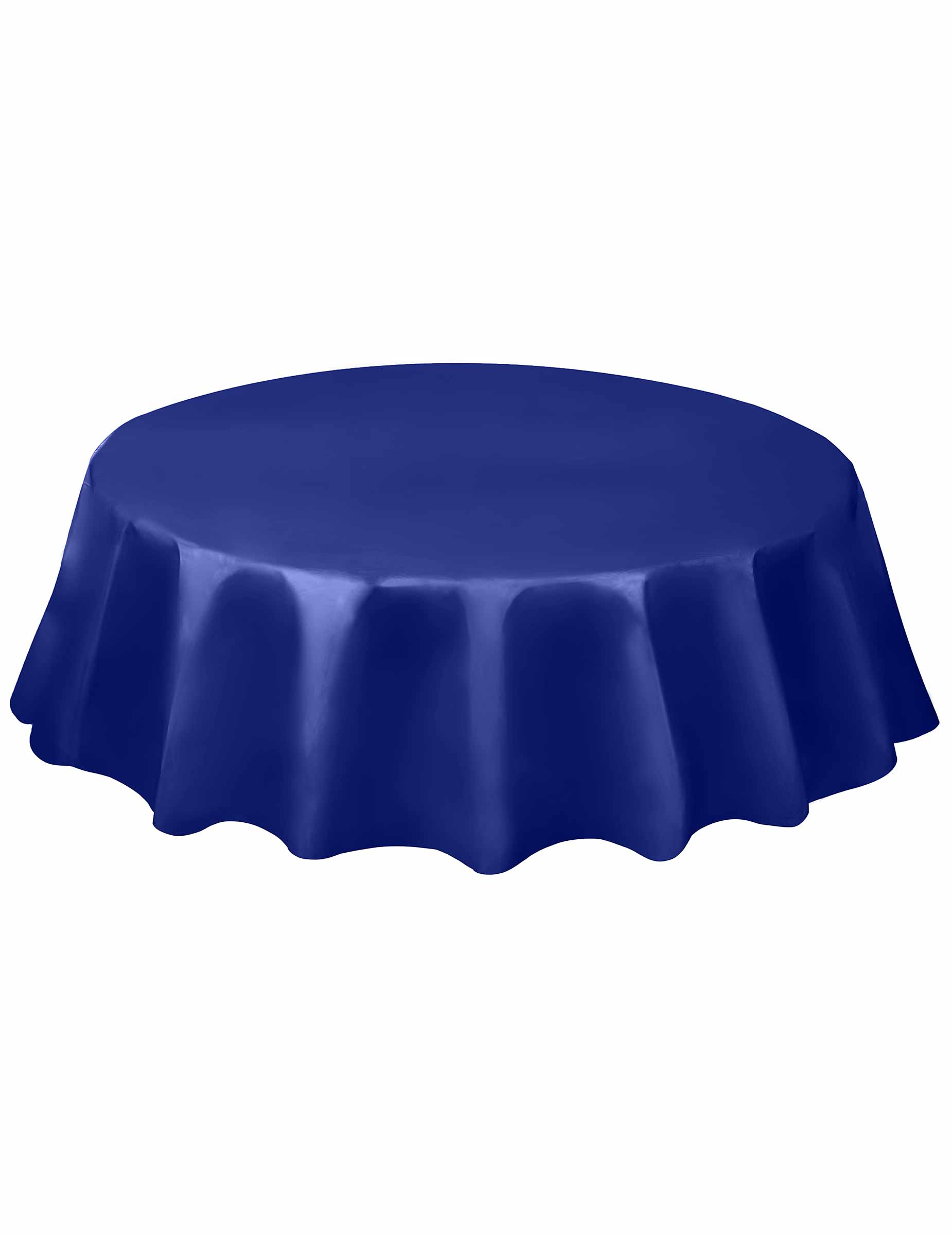 nappe ronde en plastique bleu marine 213 cm d coration. Black Bedroom Furniture Sets. Home Design Ideas