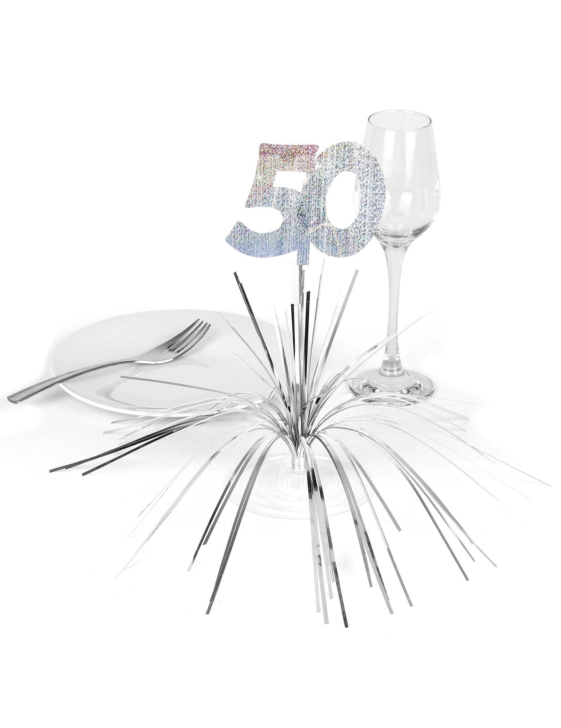 centre de table 50 ans d coration anniversaire et f tes. Black Bedroom Furniture Sets. Home Design Ideas