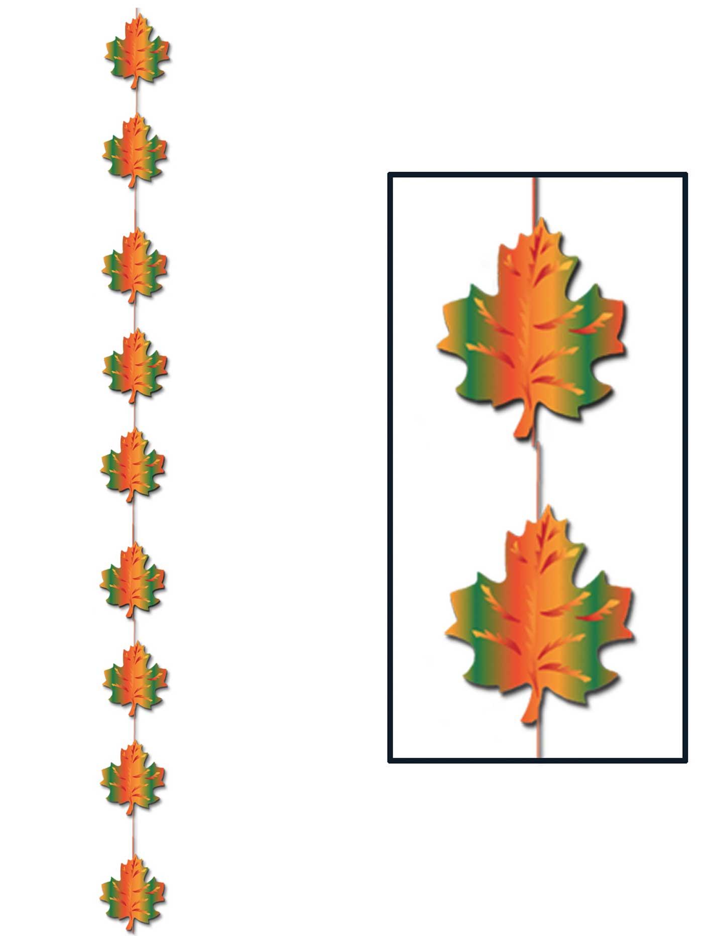 Suspension 9 feuilles d 39 automne d coration anniversaire for Plante 9 feuilles