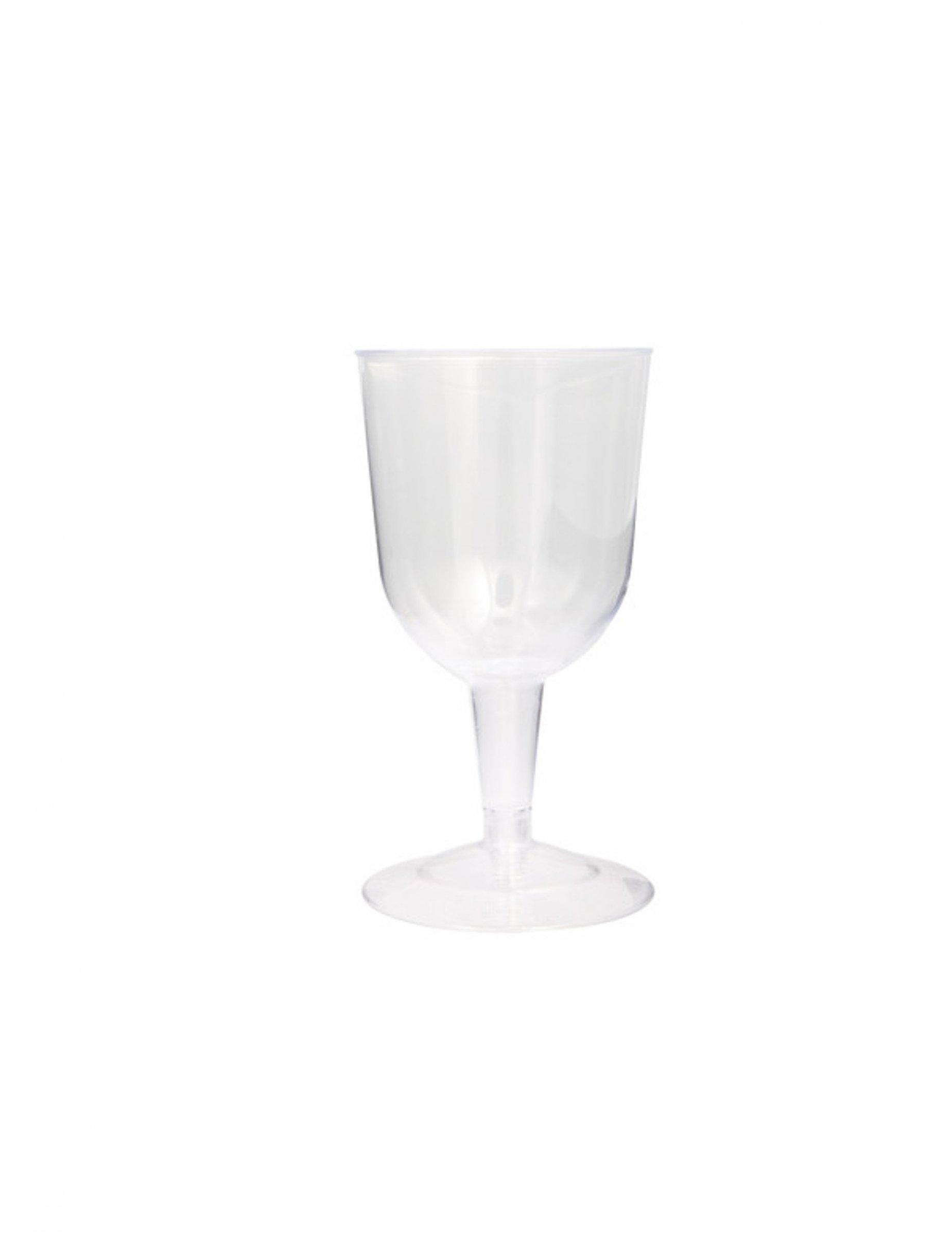 6 verres pied plastique transparent 200 ml d coration. Black Bedroom Furniture Sets. Home Design Ideas