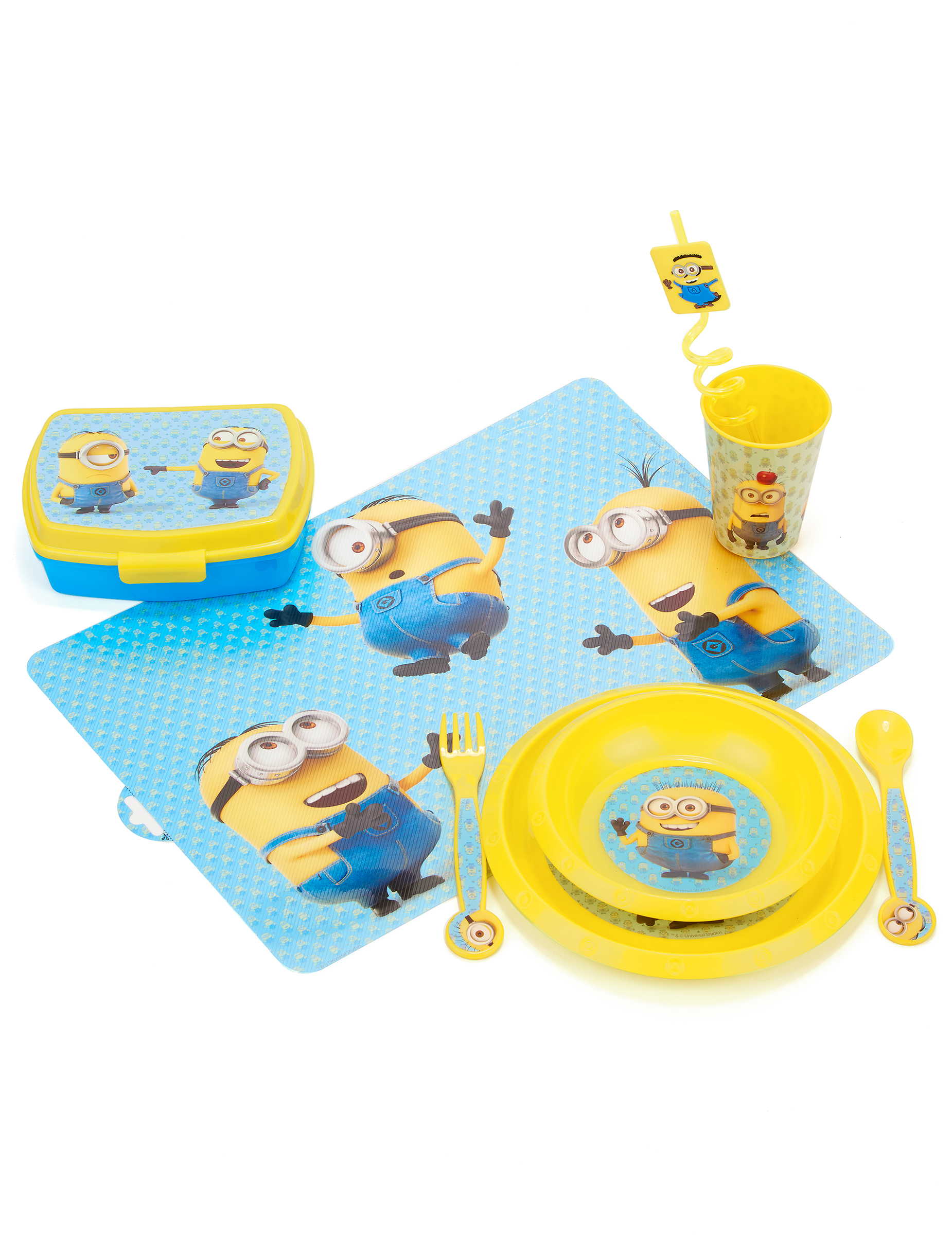 set de table en plastique les minions d coration. Black Bedroom Furniture Sets. Home Design Ideas
