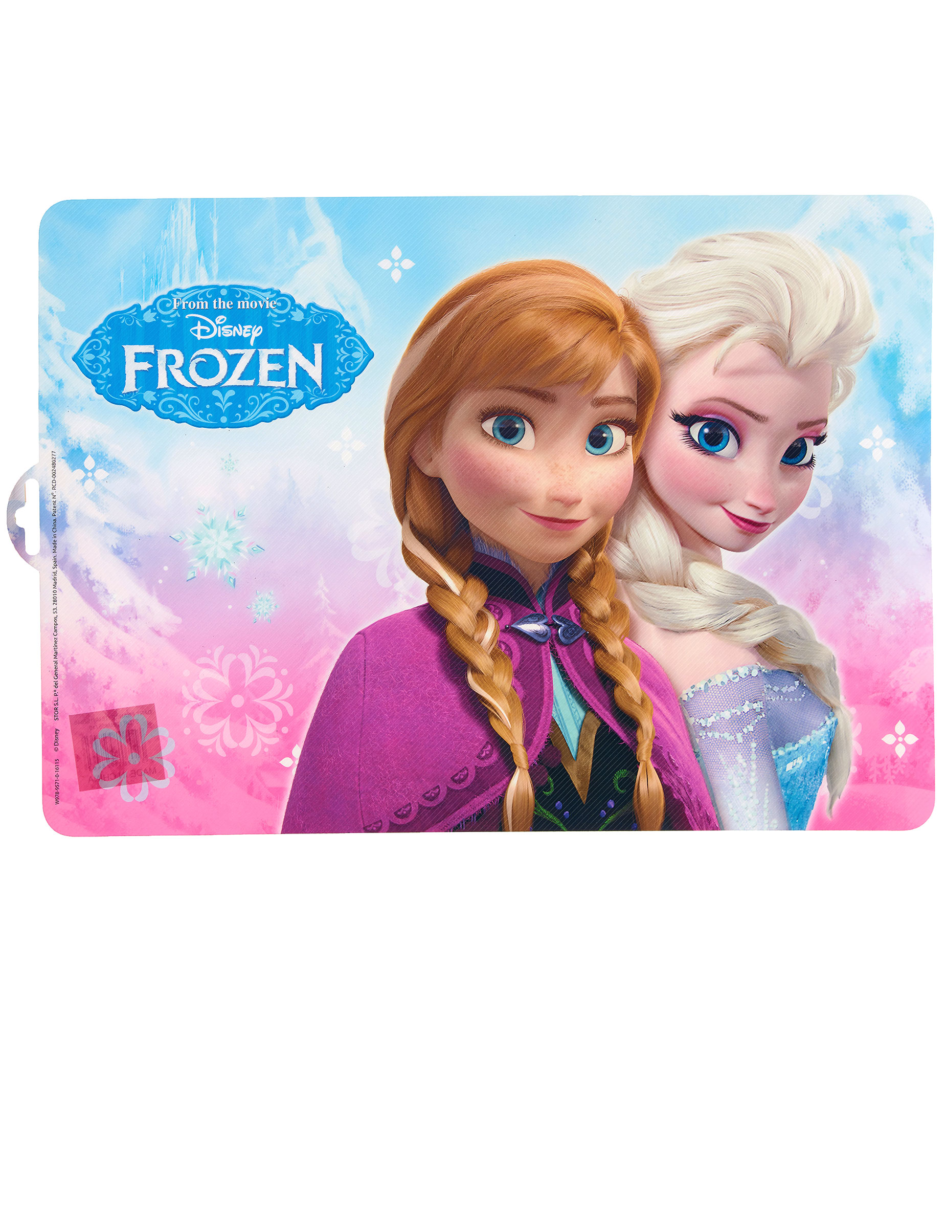 Set de table en plastique la reine des neiges for Set de table plastifie personnalise