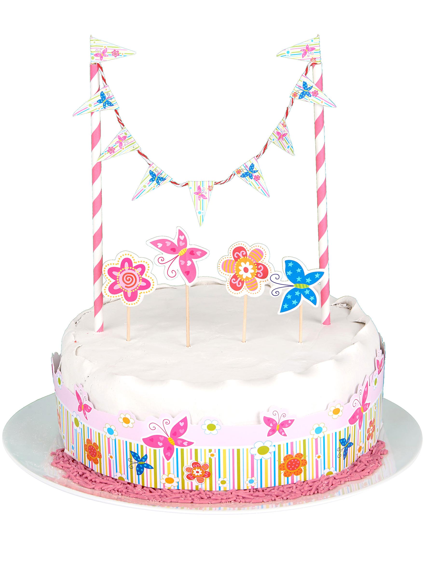D coration pour g teau fille d coration anniversaire et f tes th me sur vegaoo party - Decor gateau anniversaire fille ...