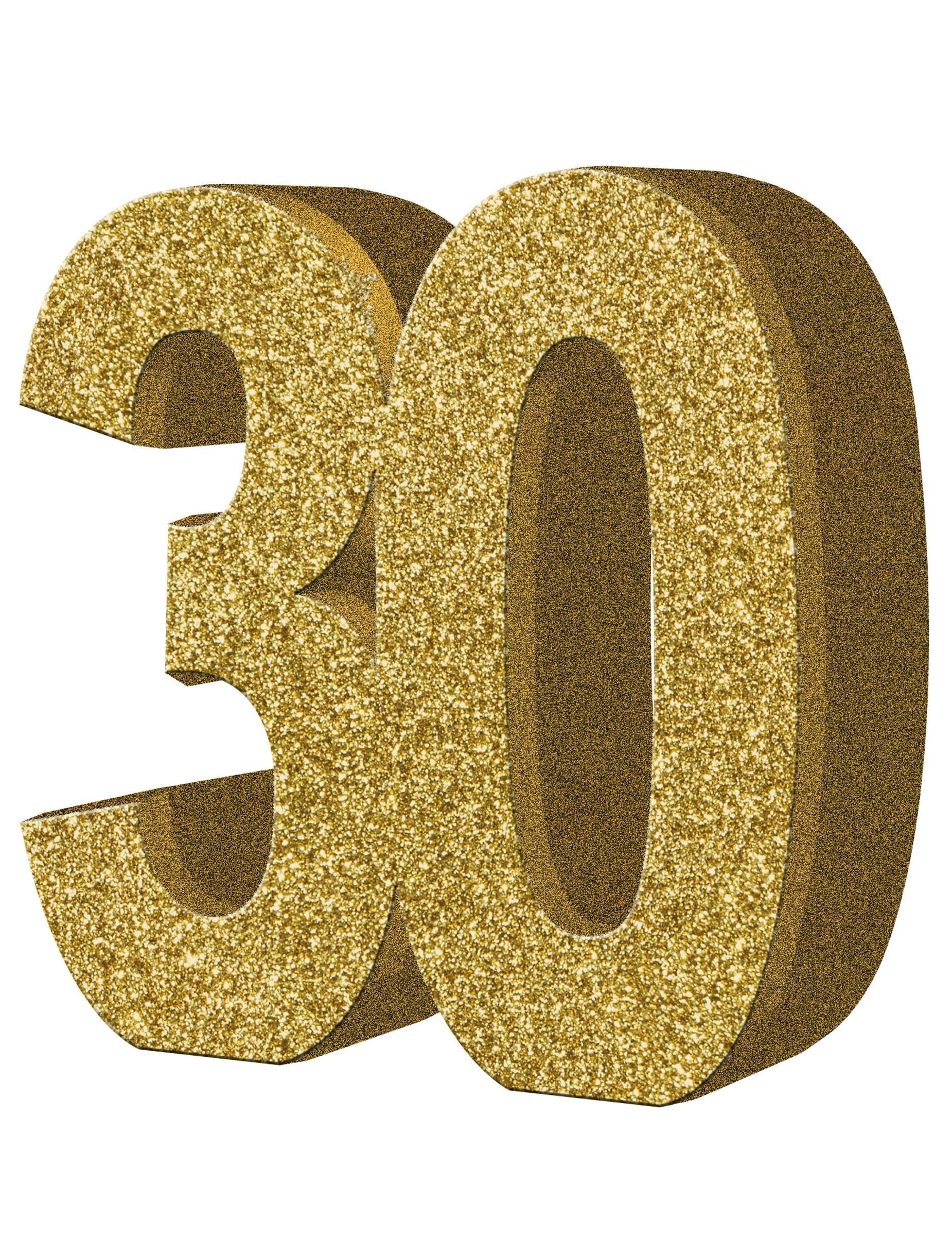 D coration de table 30 ans or 20 x 20 cm d coration - Decoration de table anniversaire 30 ans ...