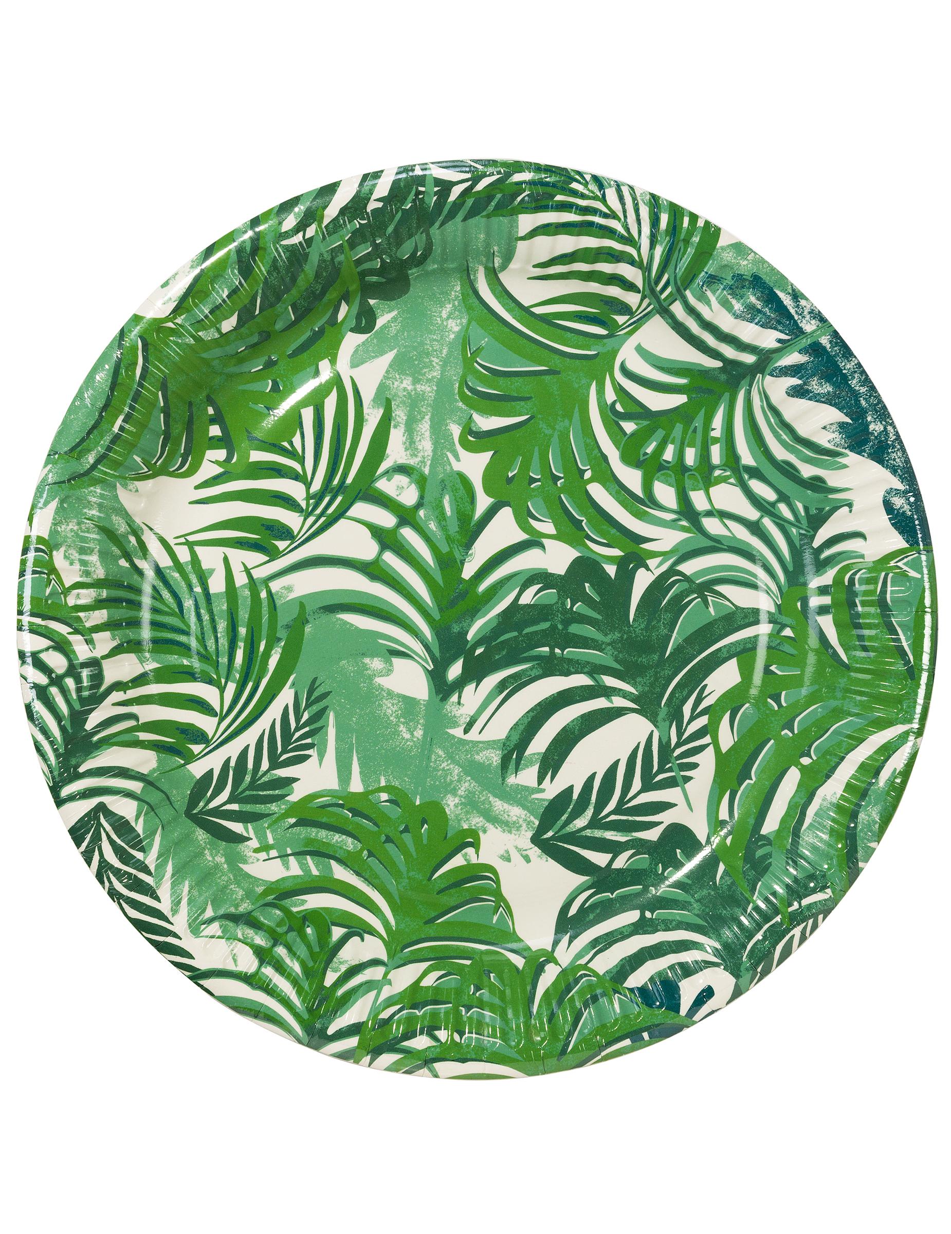12 assiettes en carton tropical jungle 23 cm d coration anniversaire et f tes th me sur. Black Bedroom Furniture Sets. Home Design Ideas